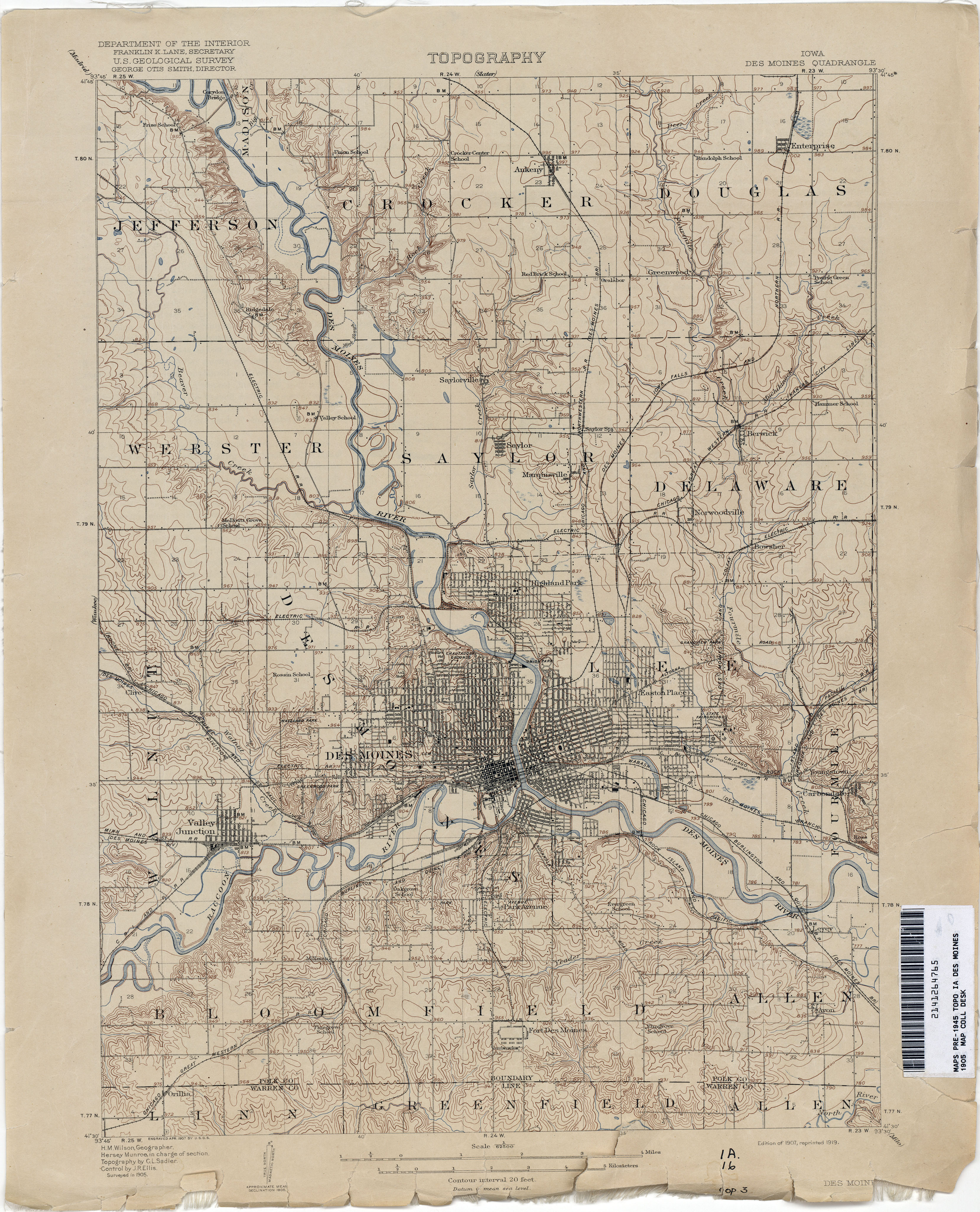 Iowa Historical Topographic Maps PerryCastañeda Map Collection - Maps of iowa