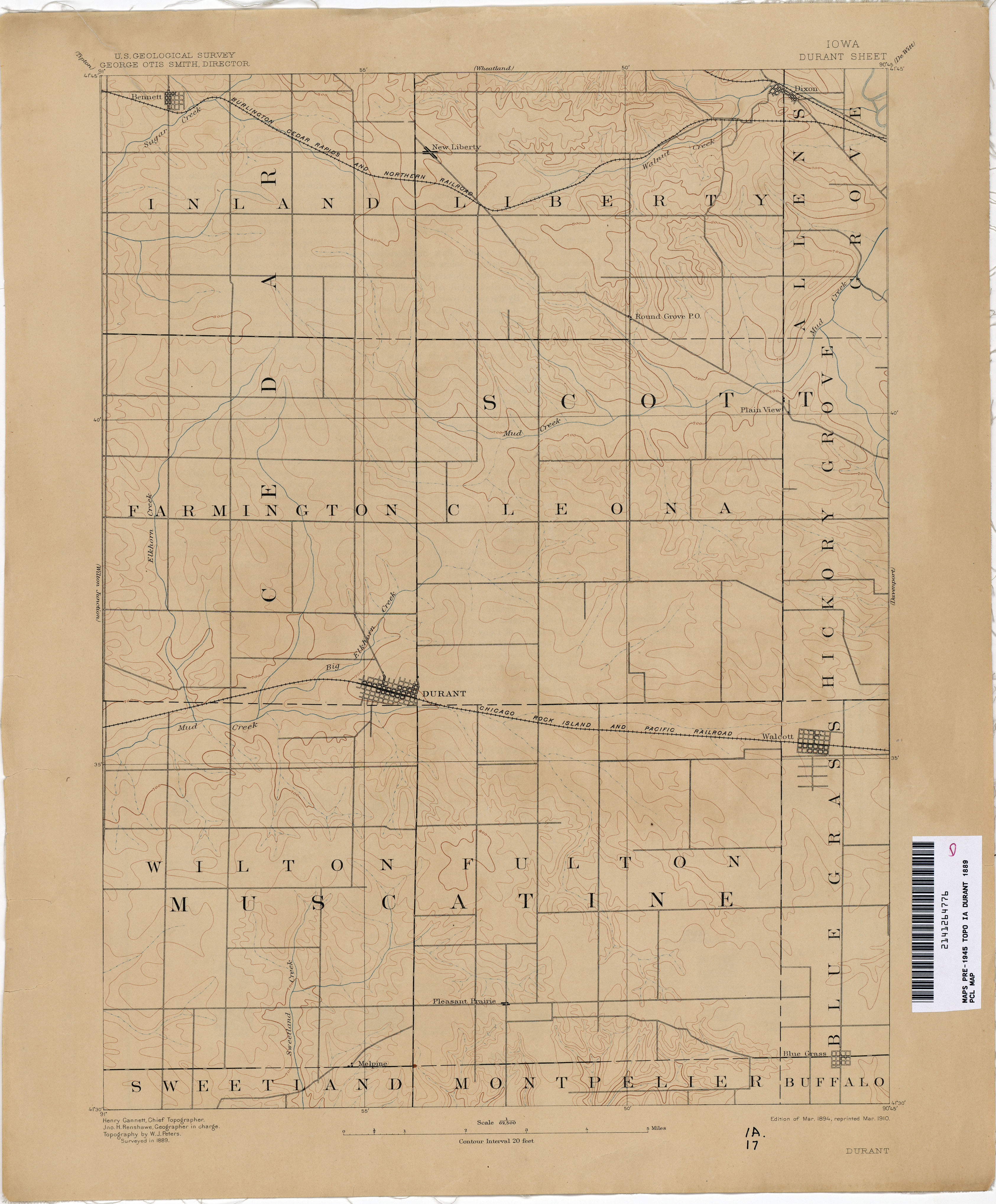 Iowa Historical Topographic Maps Perry Castaneda Map Collection