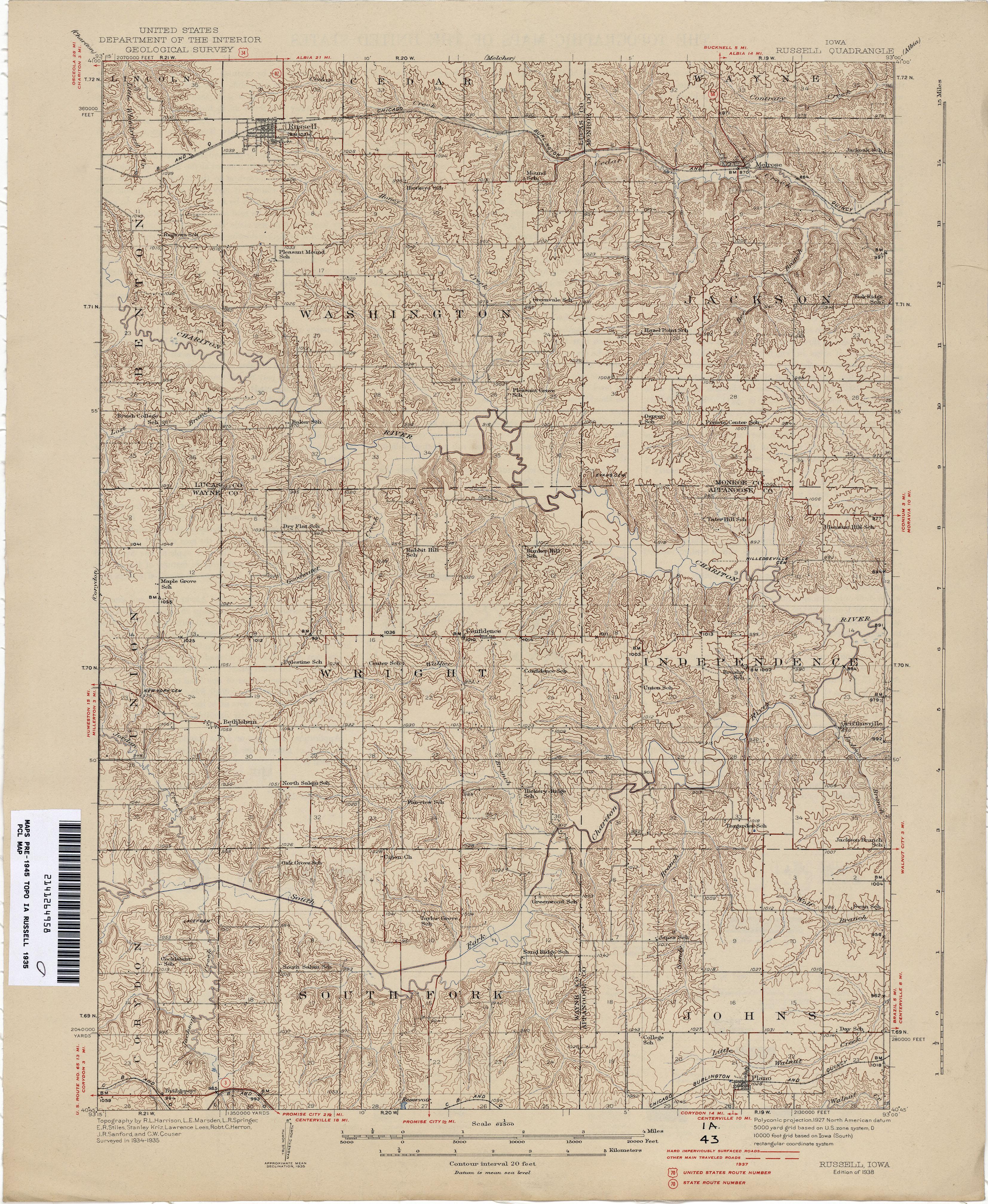 Iowa Historical Topographic Maps PerryCastañeda Map Collection - Iowa map us