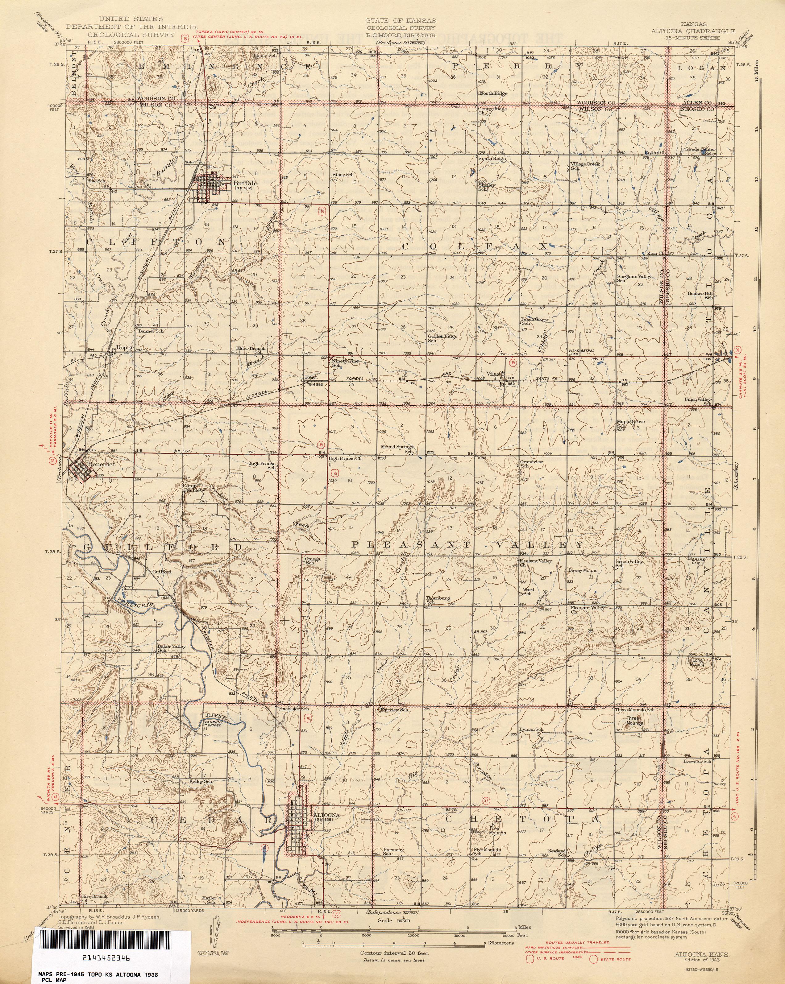 Kansas Historical Topographic Maps