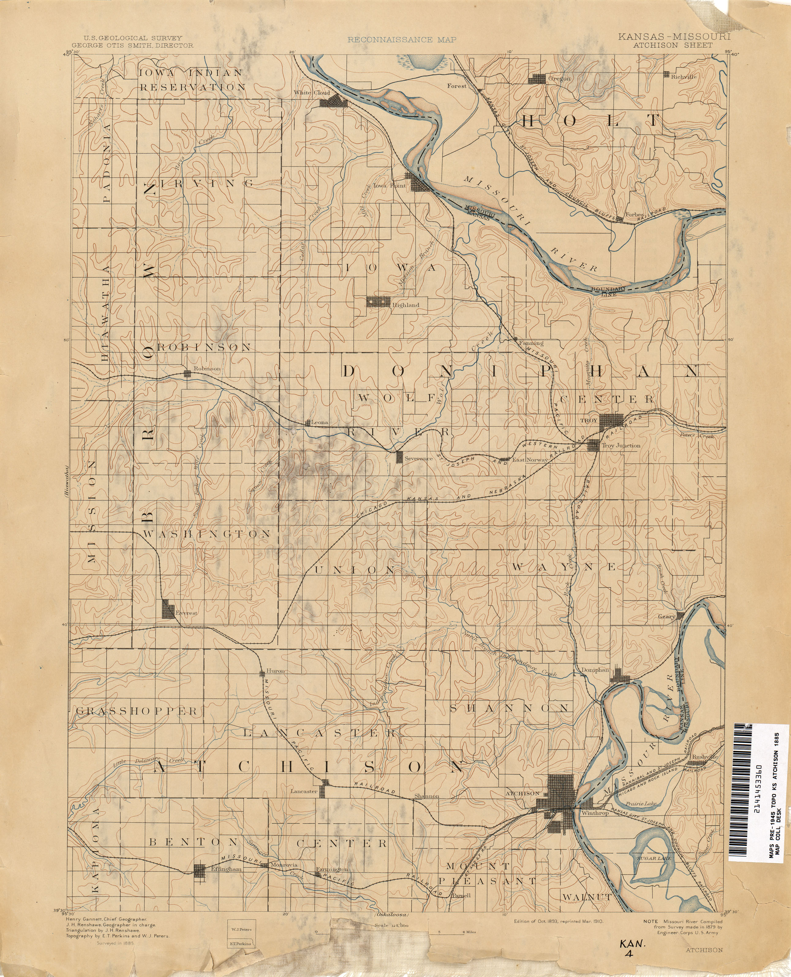 Kansas Historical Topographic Maps - Perry-Castañeda Map Collection ...