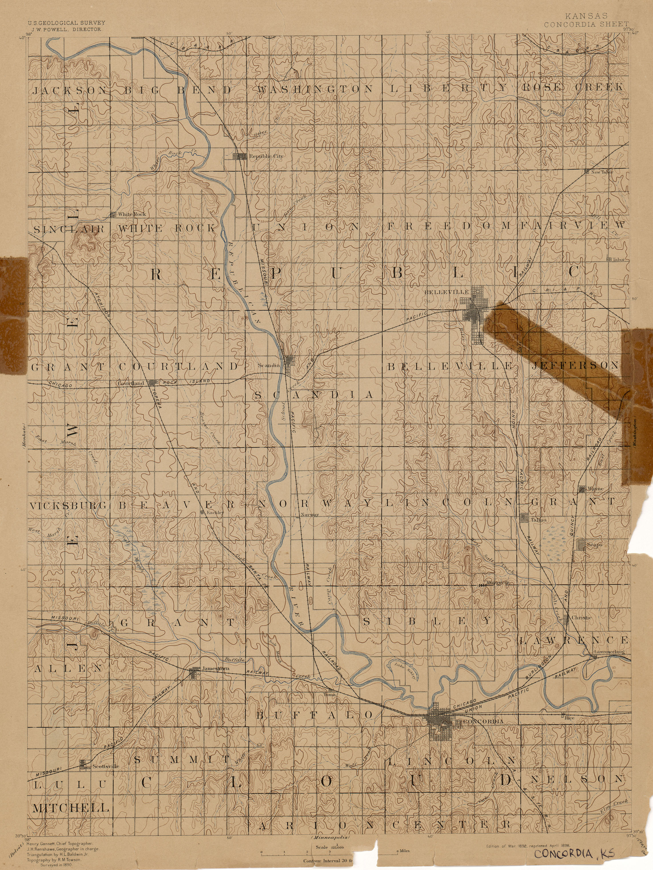Concordia Kansas Map.Kansas Historical Topographic Maps Perry Castaneda Map Collection
