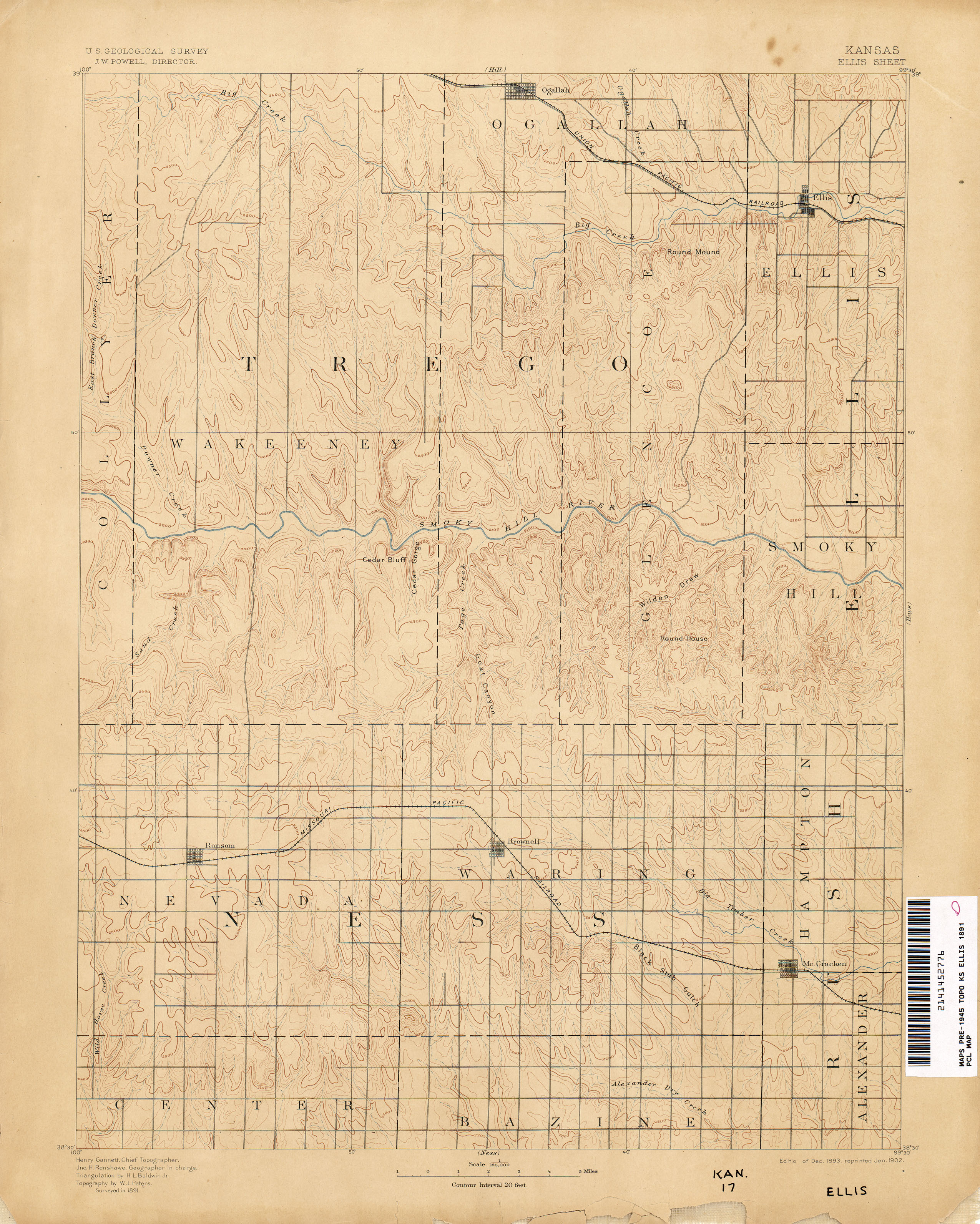Kansas Historical Topographic Maps Perry Castaneda Map Collection