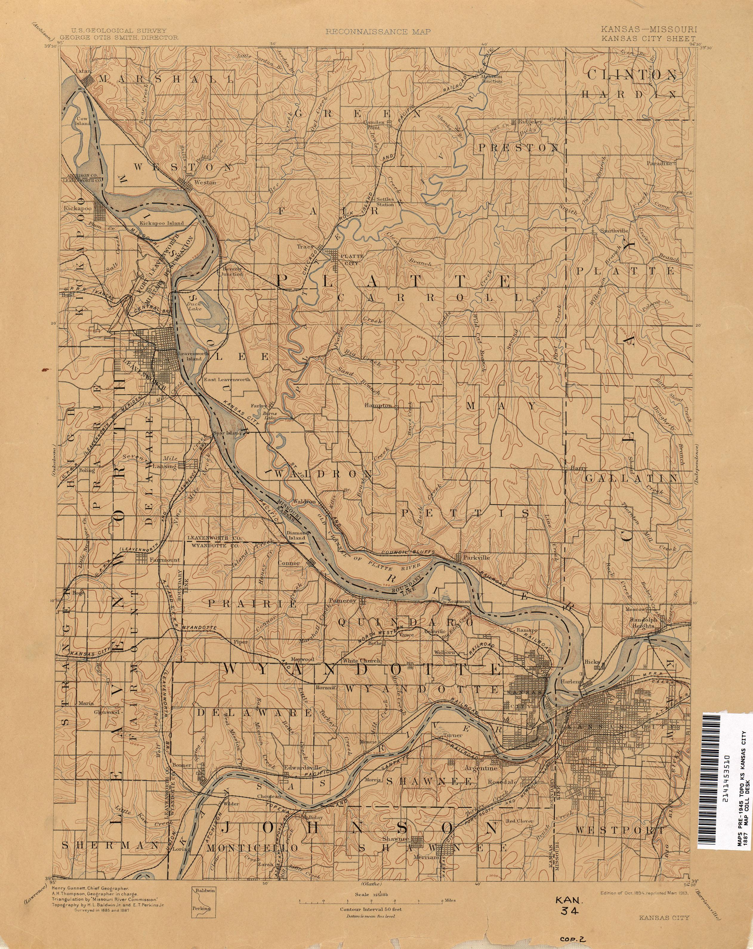 Kansas Historical Topographic Maps PerryCastañeda Map - Ks map