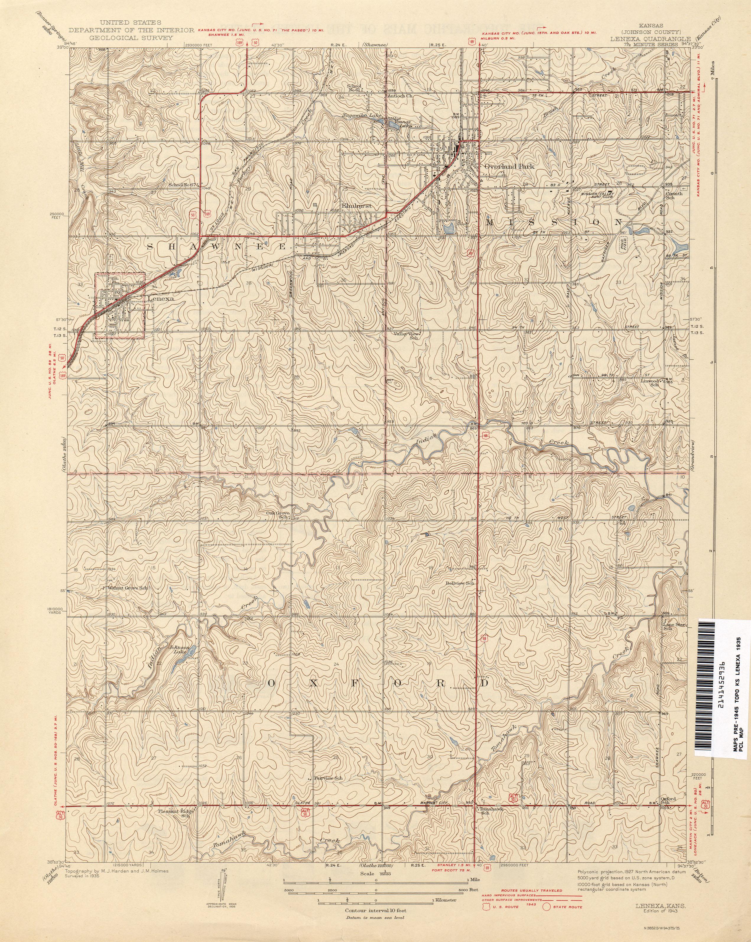 Lenexa Kansas Map.Kansas Historical Topographic Maps Perry Castaneda Map Collection
