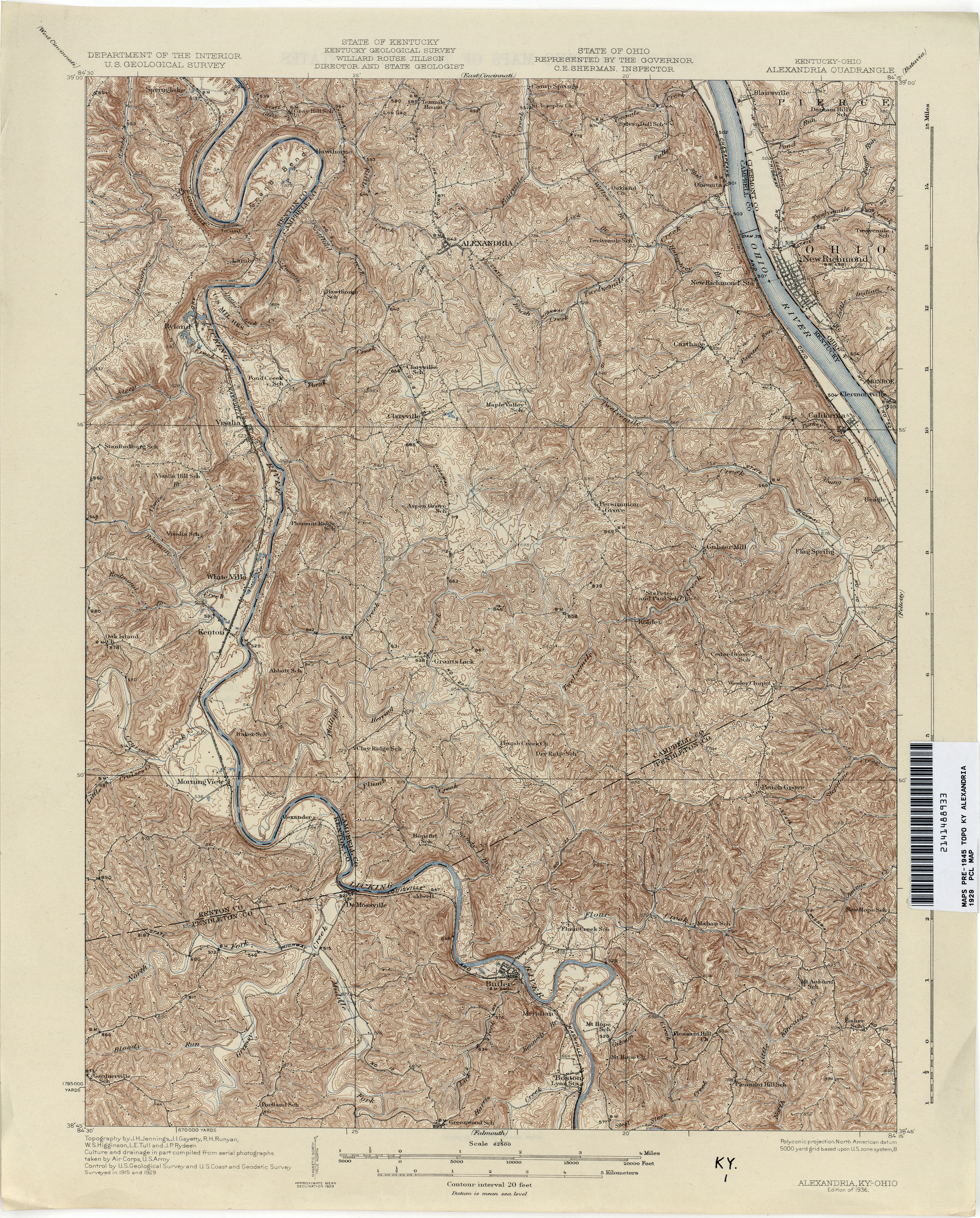 Kentucky Historical Topographic Maps PerryCastañeda Map - Historical aerial maps