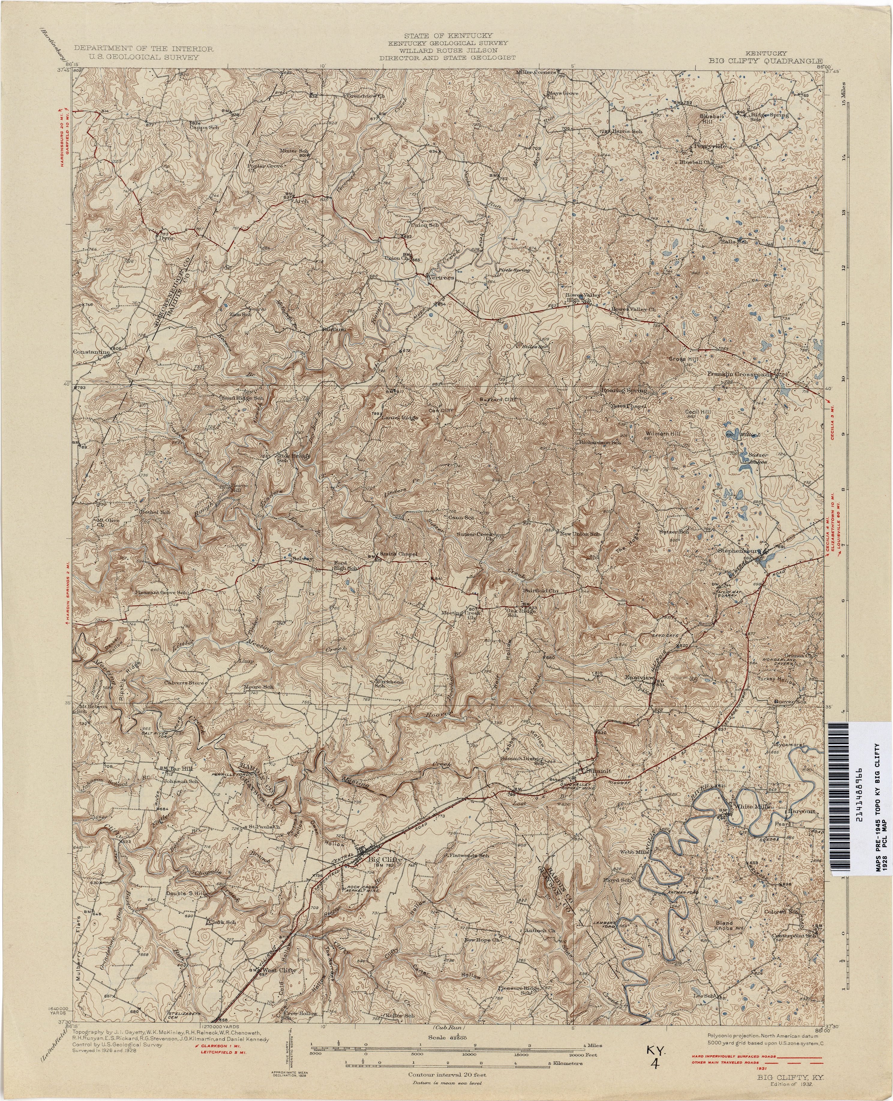 Kentucky Historical Topographic Maps Perry Casta 241 Eda Map Collection Ut Library Online