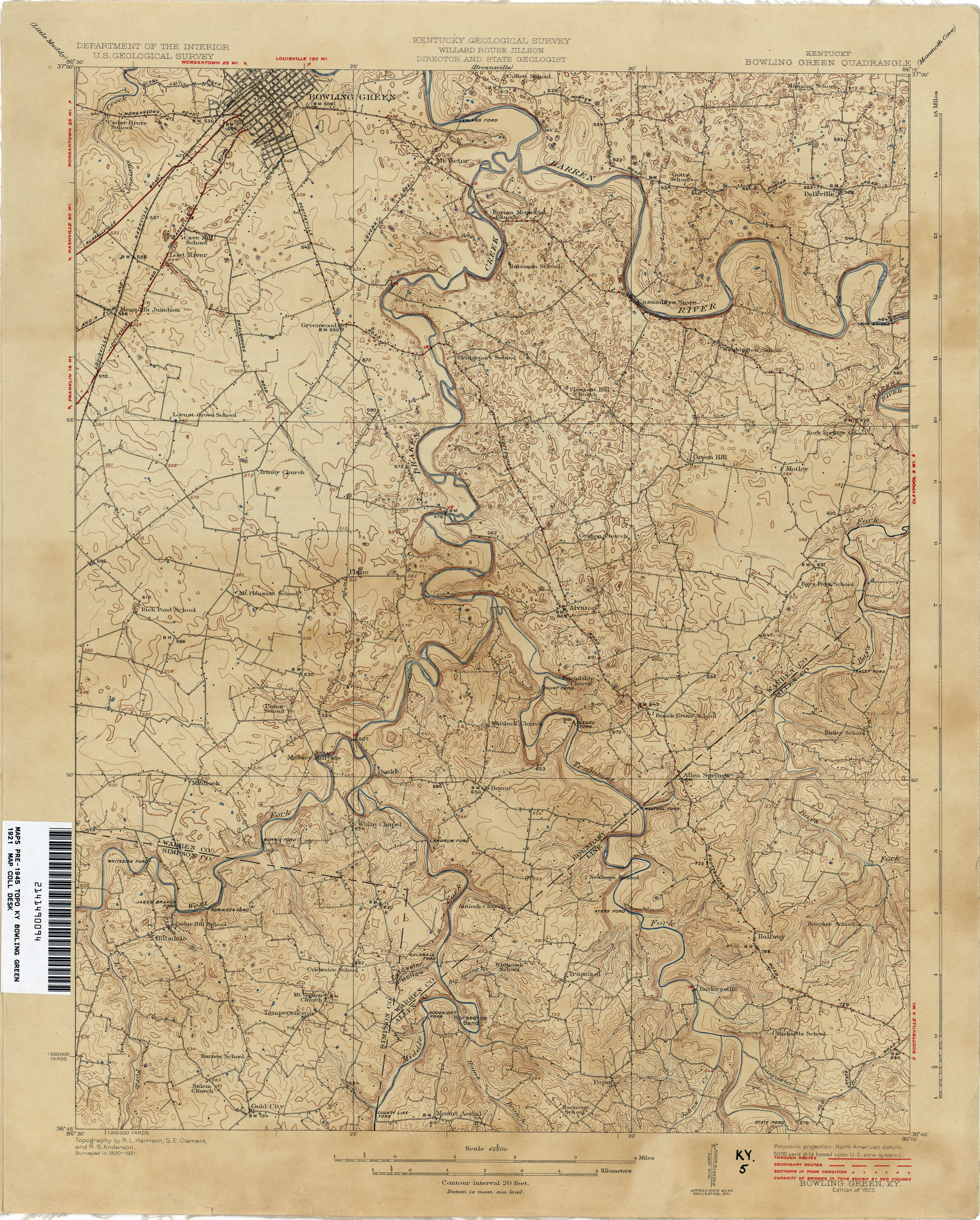 Kentucky Historical Topographic Maps - Perry-Castañeda Map ...