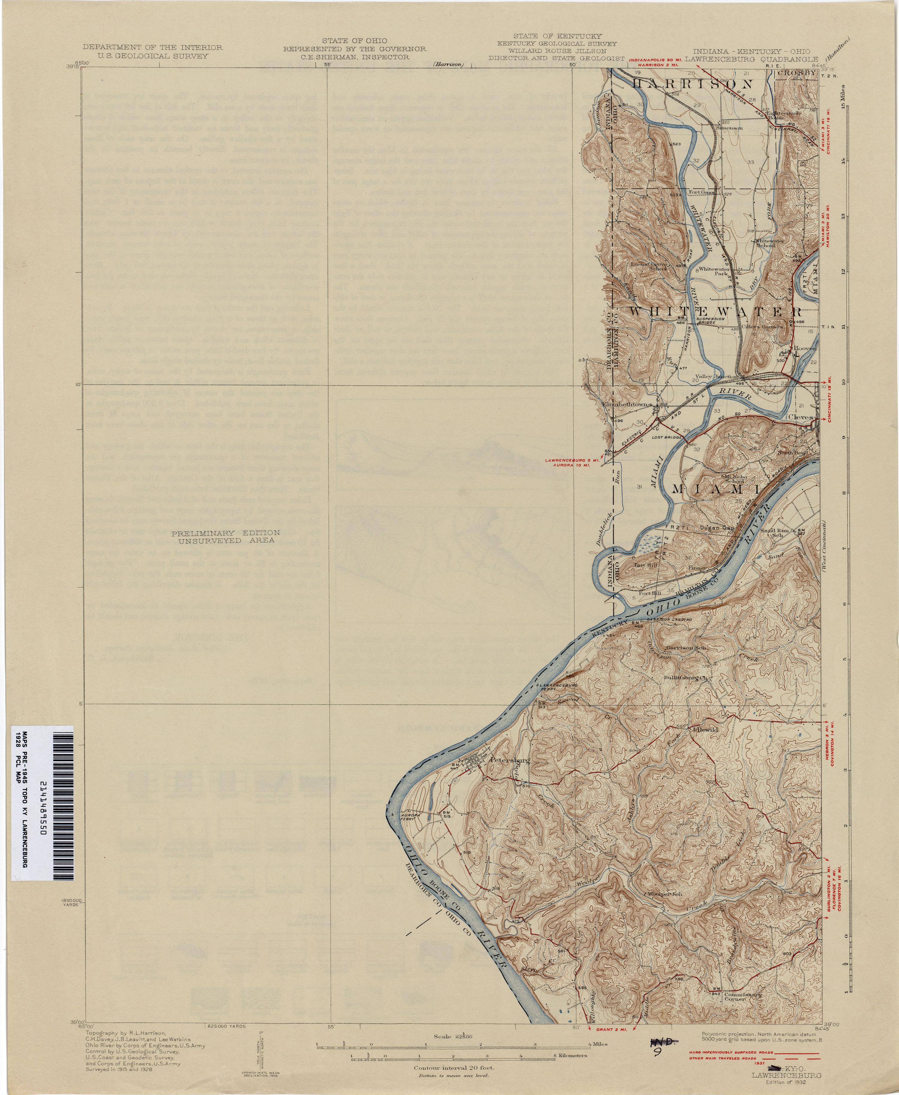 Kentucky Historical Topographic Maps PerryCastaeda Map