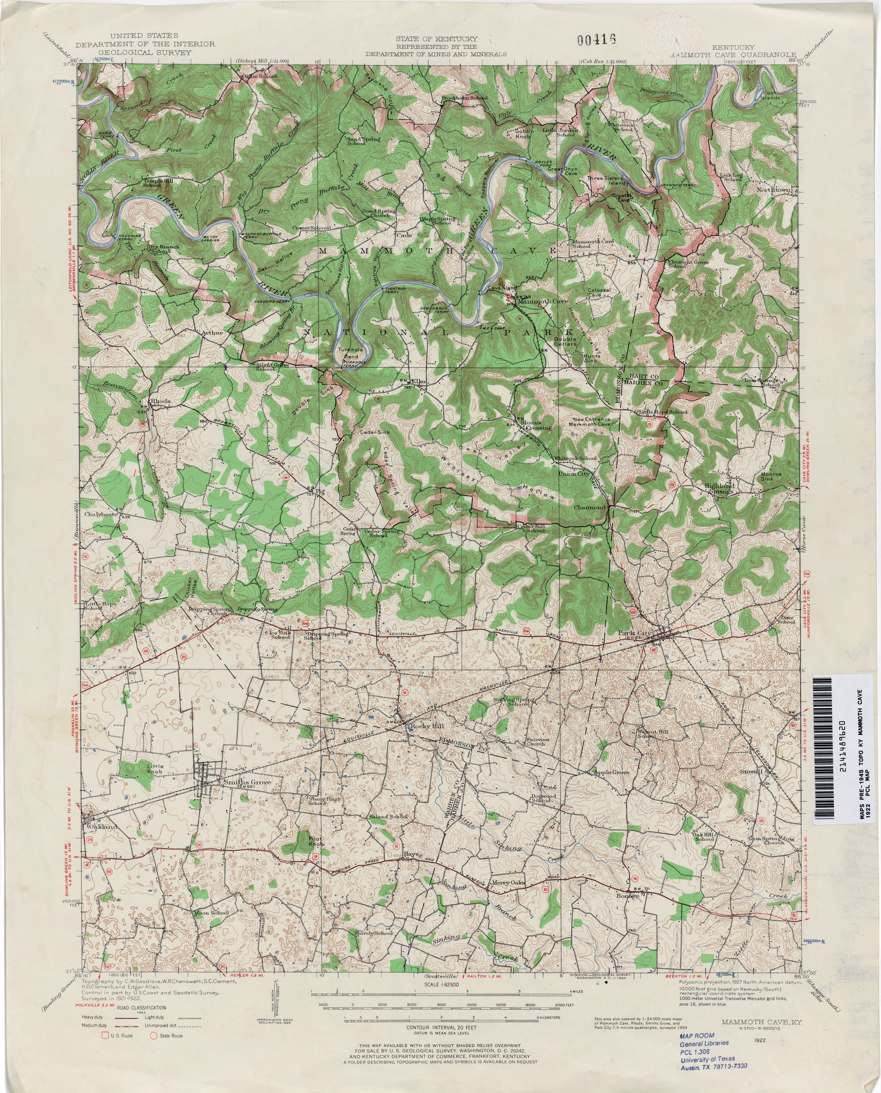 Kentucky Historical Topographic Maps   Perry Castañeda Map