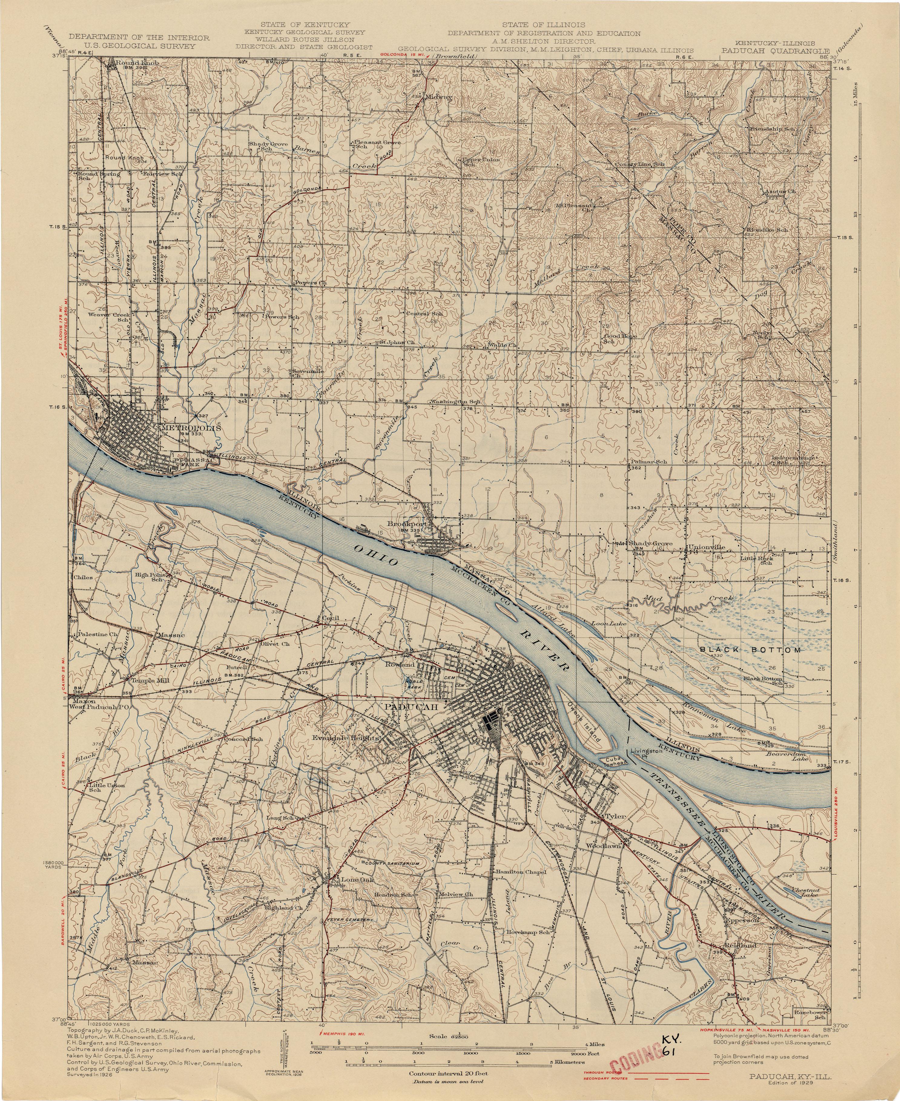 Kentucky Historical Topographic Maps PerryCastañeda Map - Paducah ky map