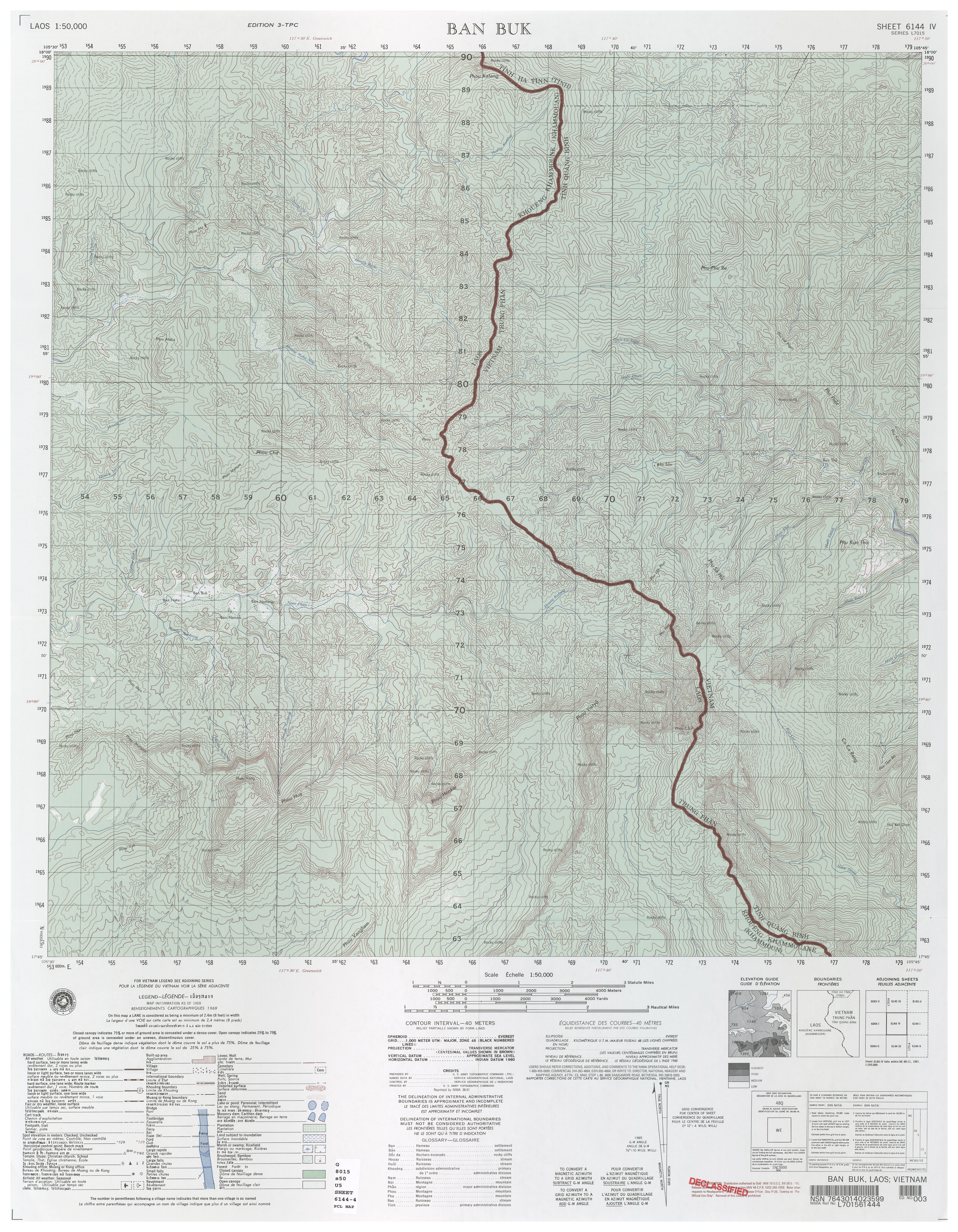 Laos Topographic Maps PerryCastaeda Map Collection UT Library