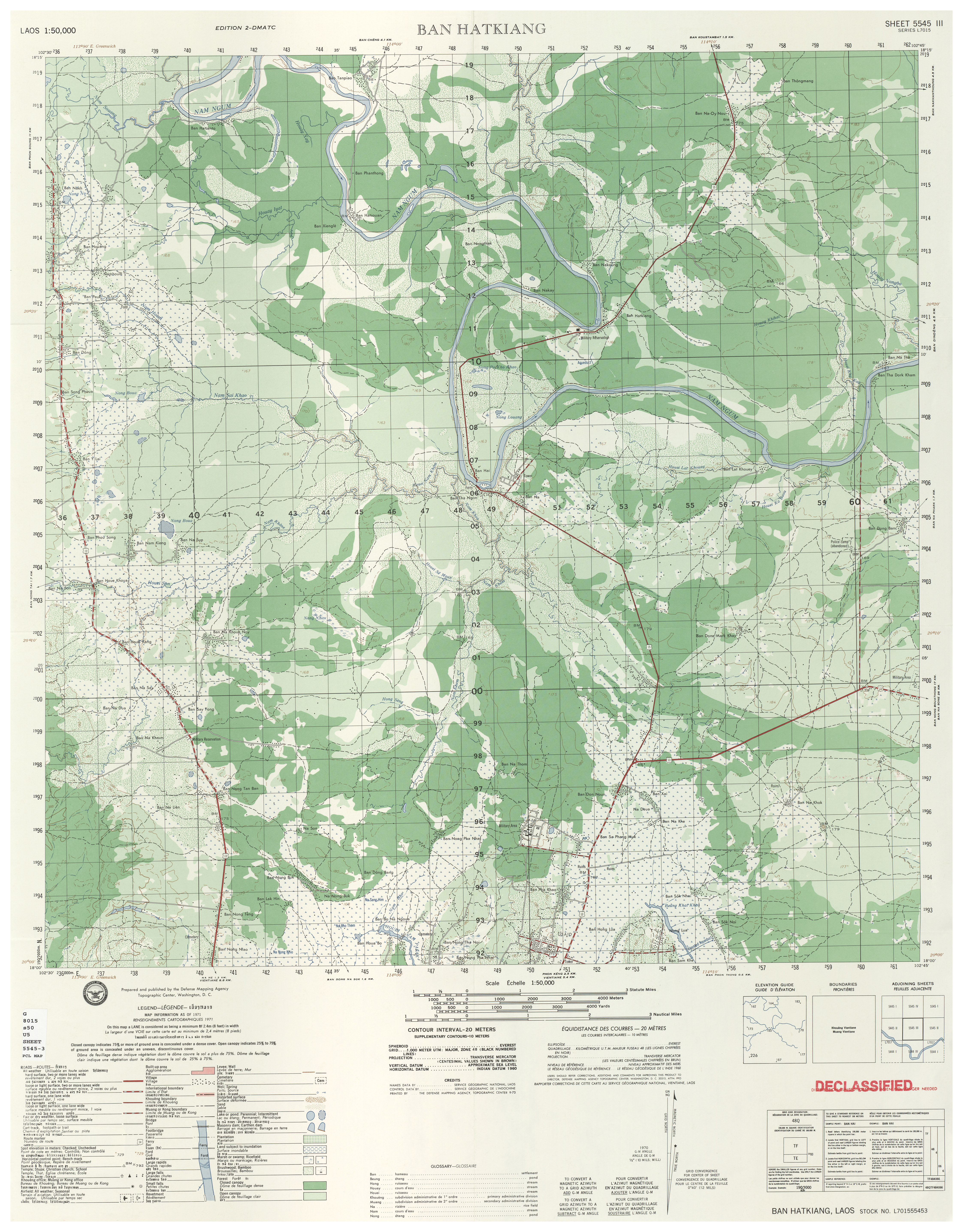 Laos Topographic Maps - Perry-Castañeda Map Collection - UT Library ...