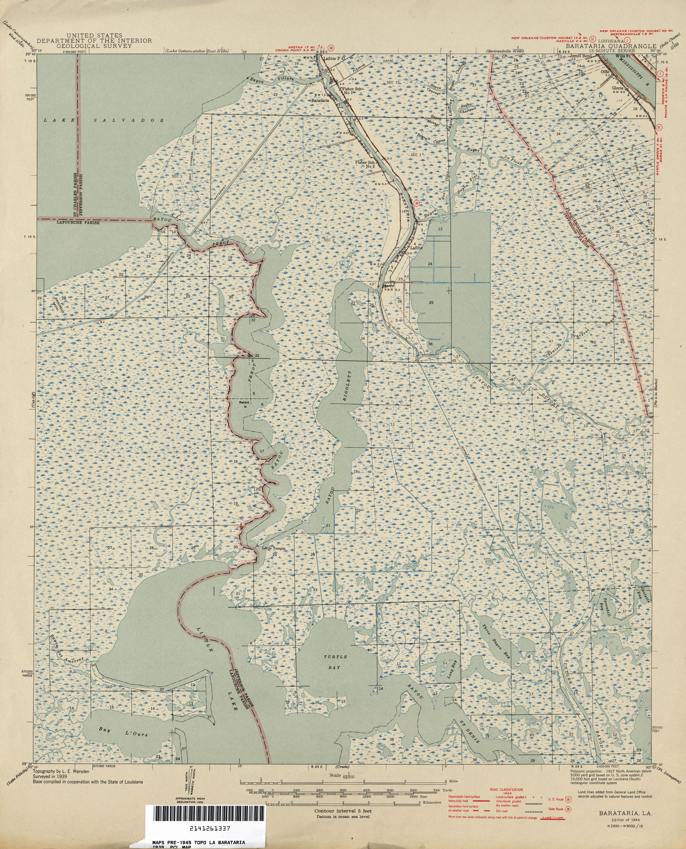 Louisiana Topographic Maps PerryCastañeda Map Collection UT - Historic maps louisiana