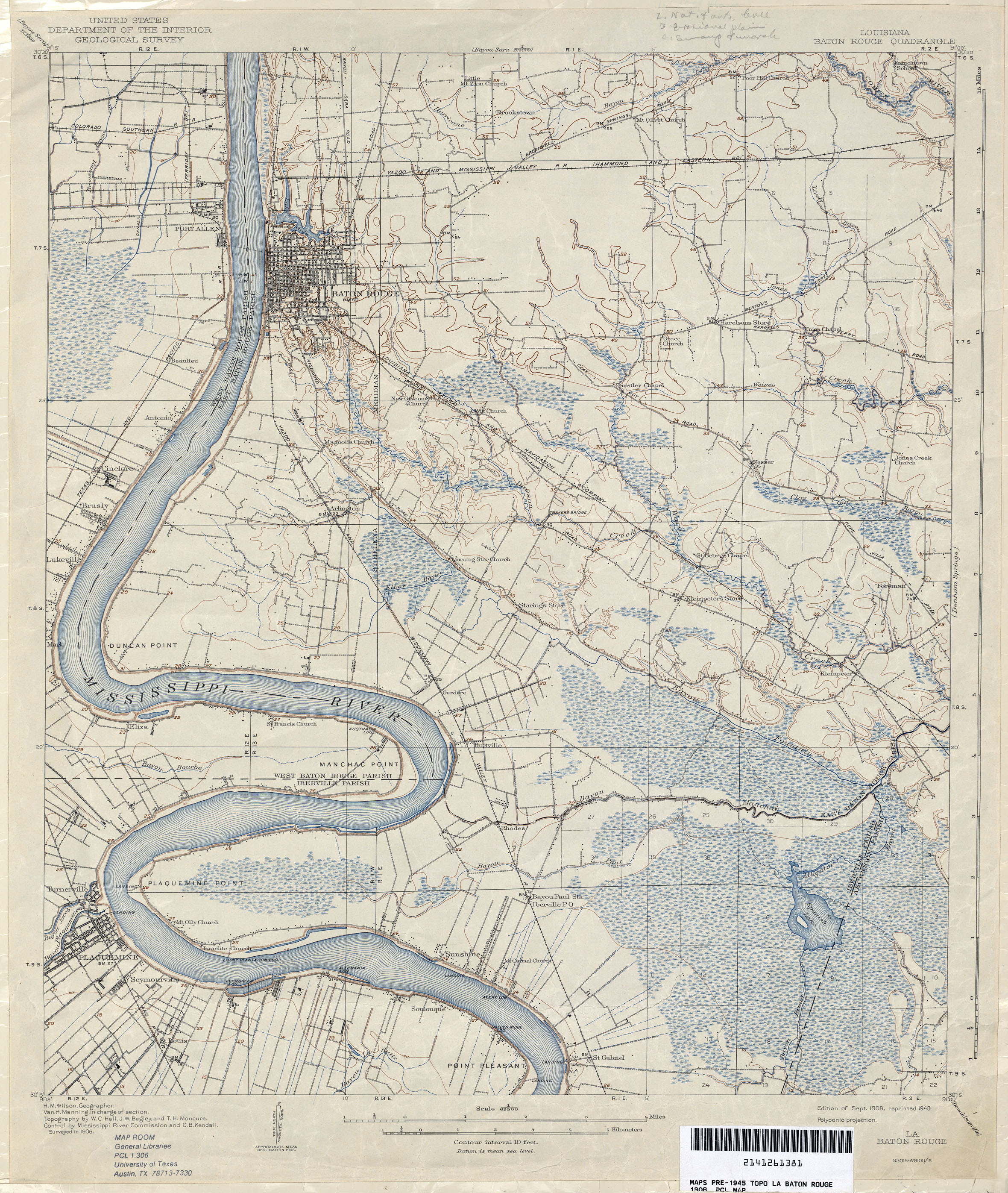 Opelousas Louisiana Map.Louisiana Topographic Maps Perry Castaneda Map Collection Ut
