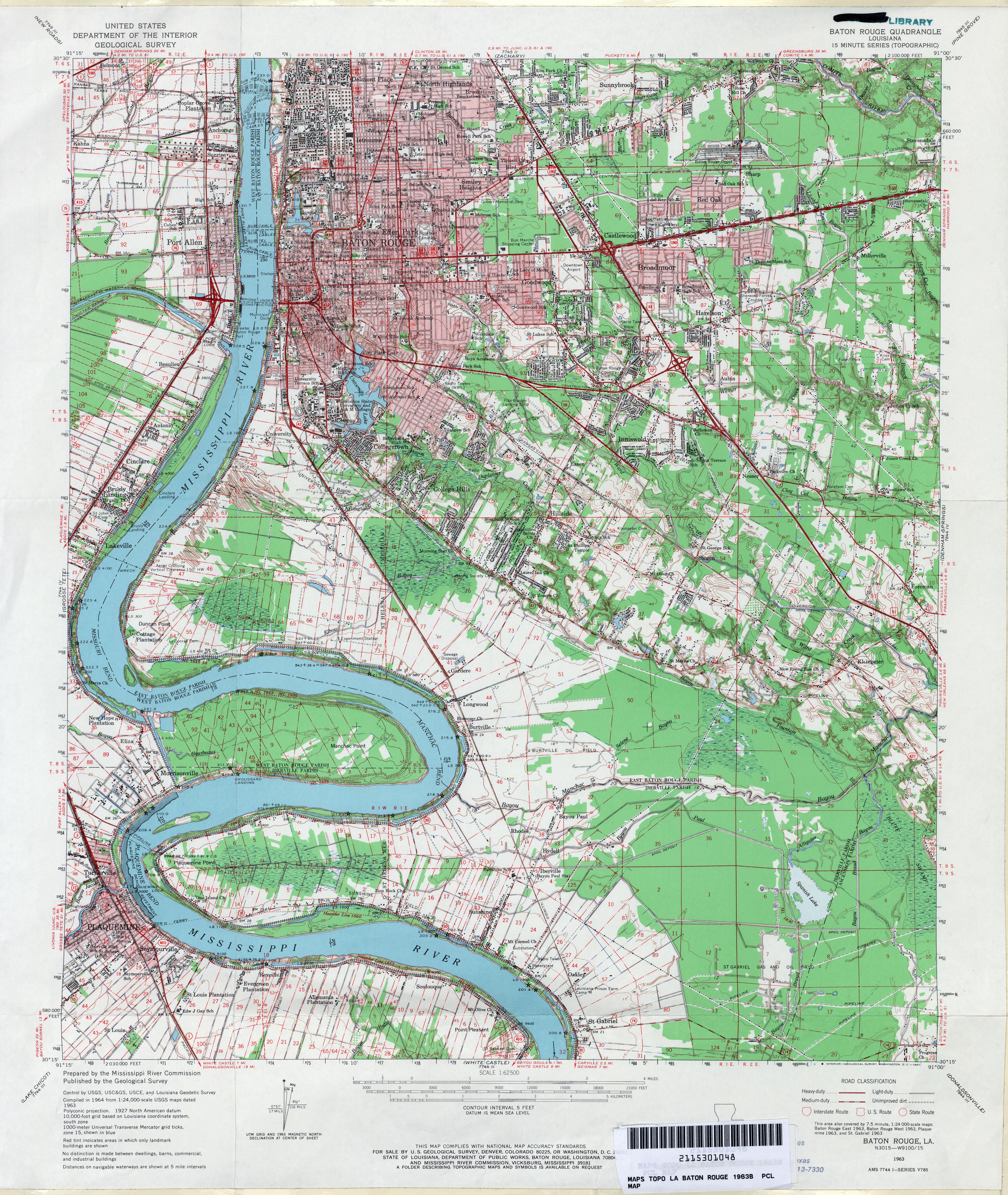 Louisiana Topographic Maps PerryCastañeda Map Collection UT - Maps louisiana