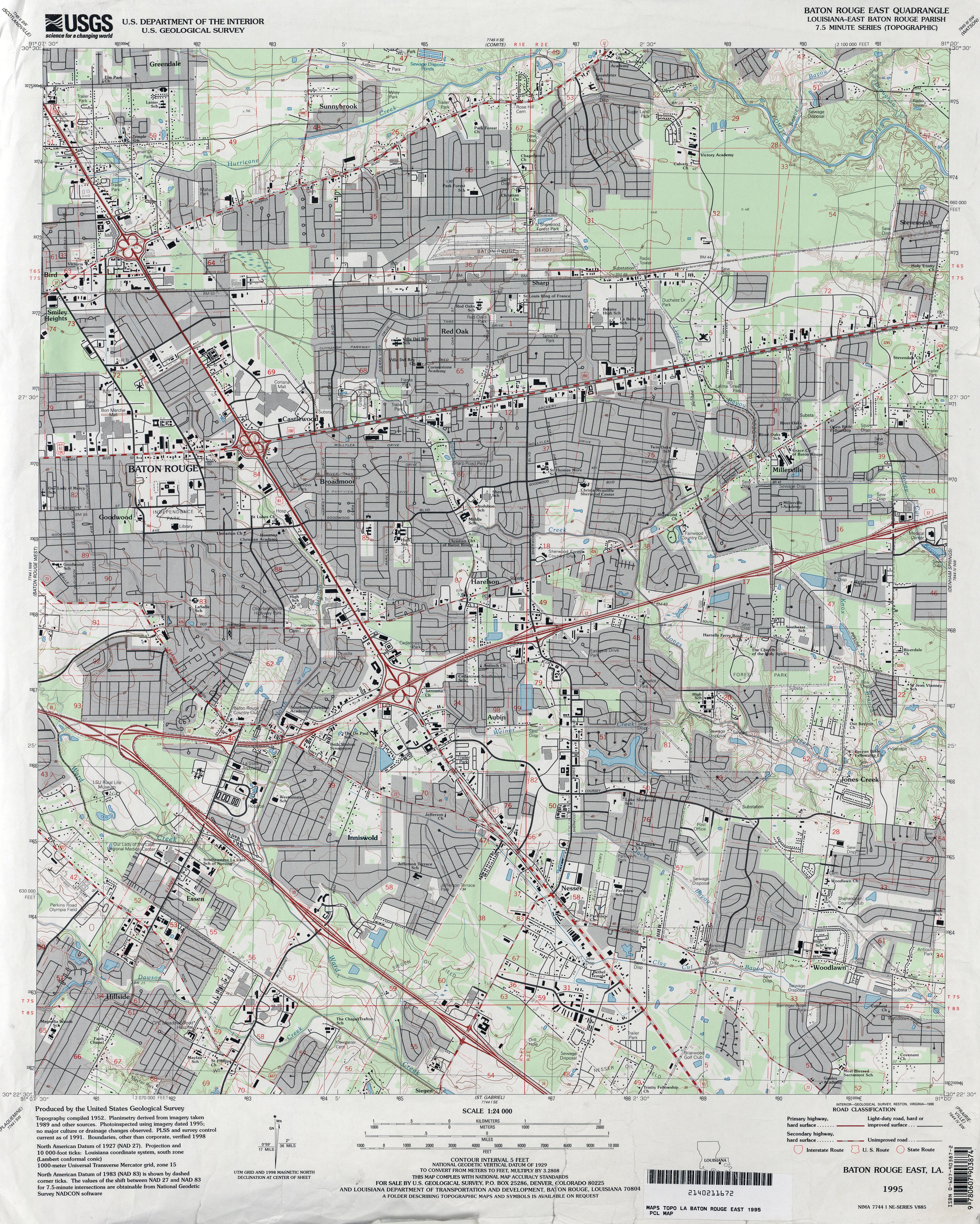 Louisiana Topographic Maps - Perry-Castañeda Map Collection - UT ...