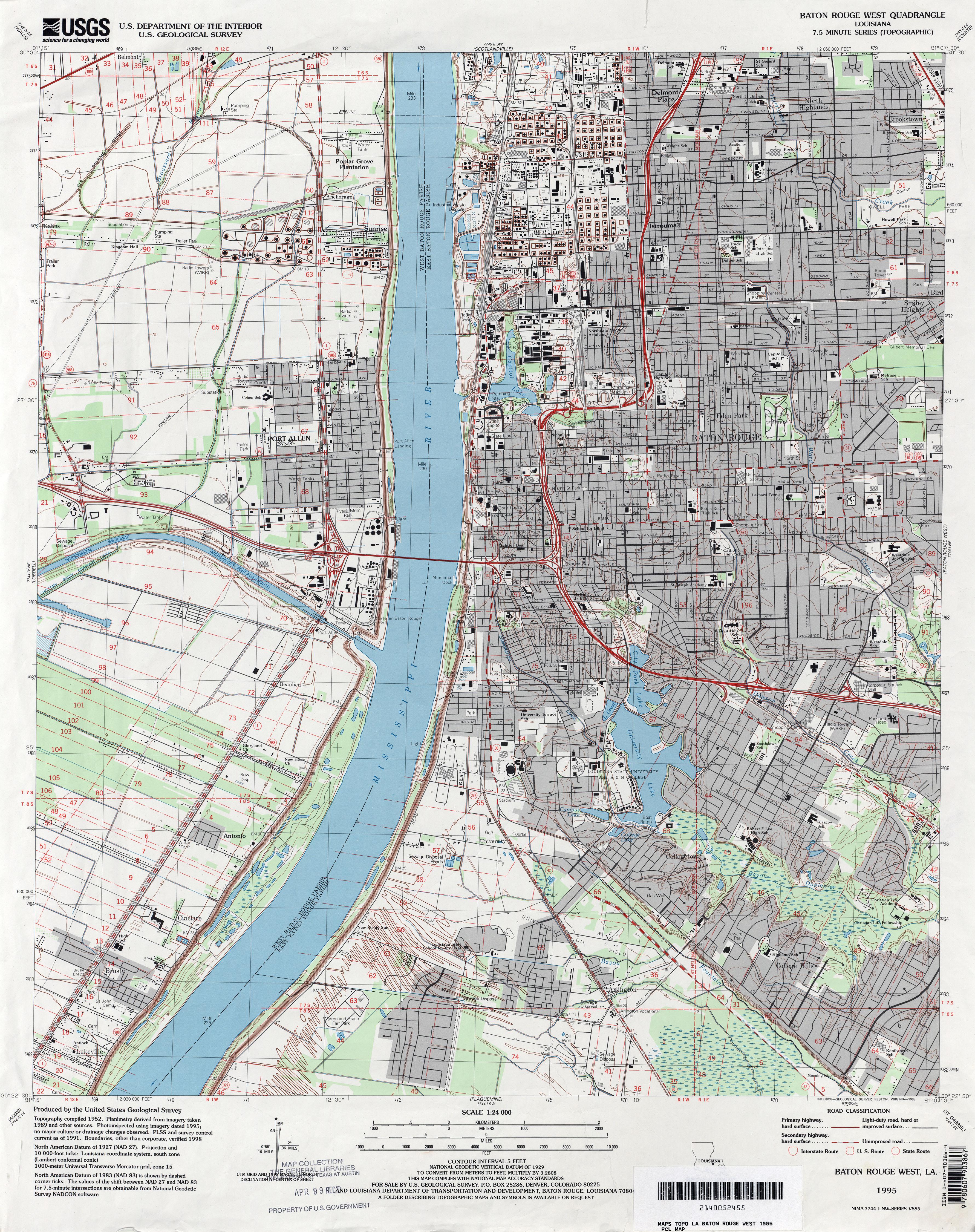 Louisiana Topographic Maps PerryCastañeda Map Collection UT - Us geodetic survey maps