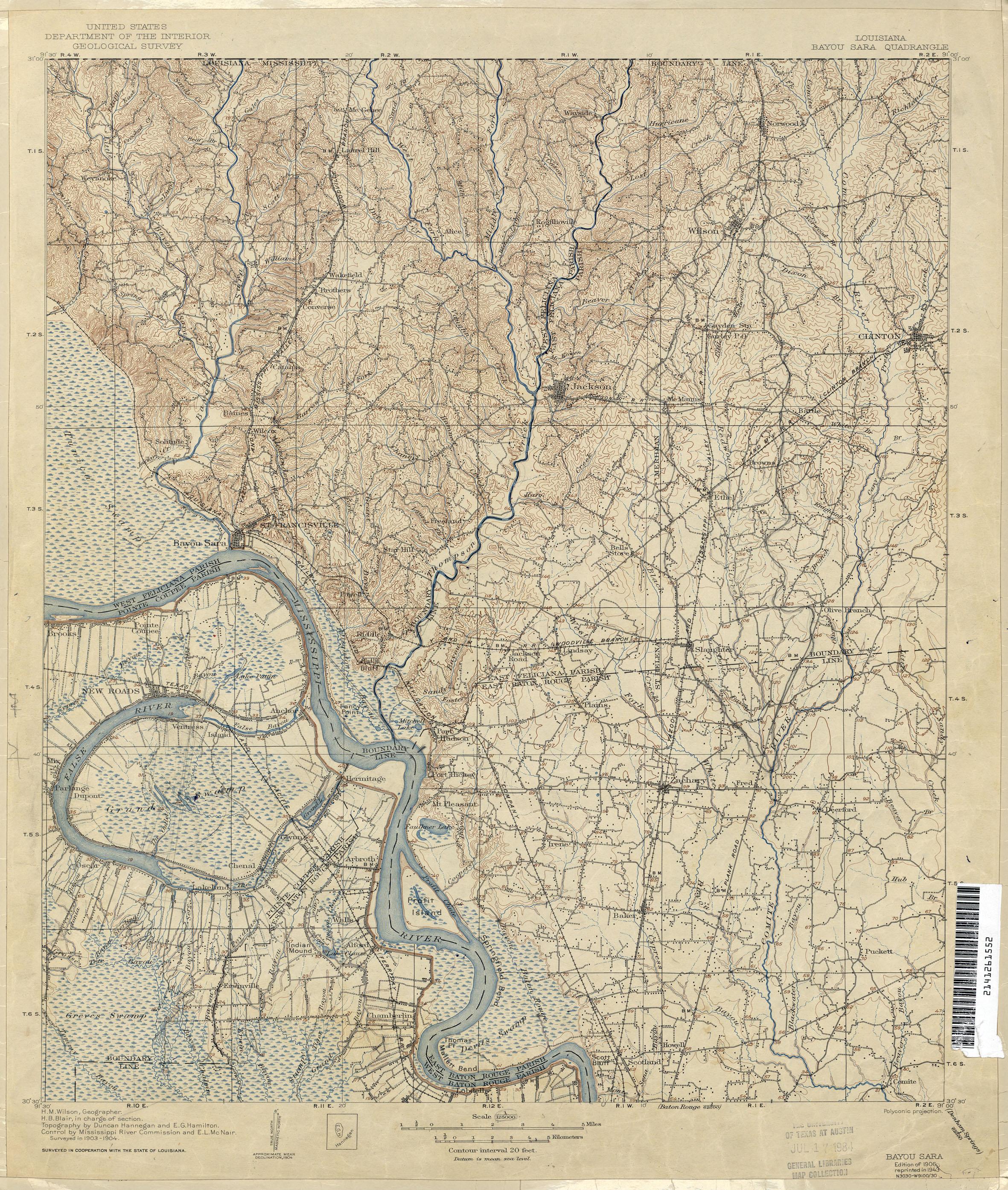 Map Of Louisiana Bayou.Louisiana Topographic Maps Perry Castaneda Map Collection Ut
