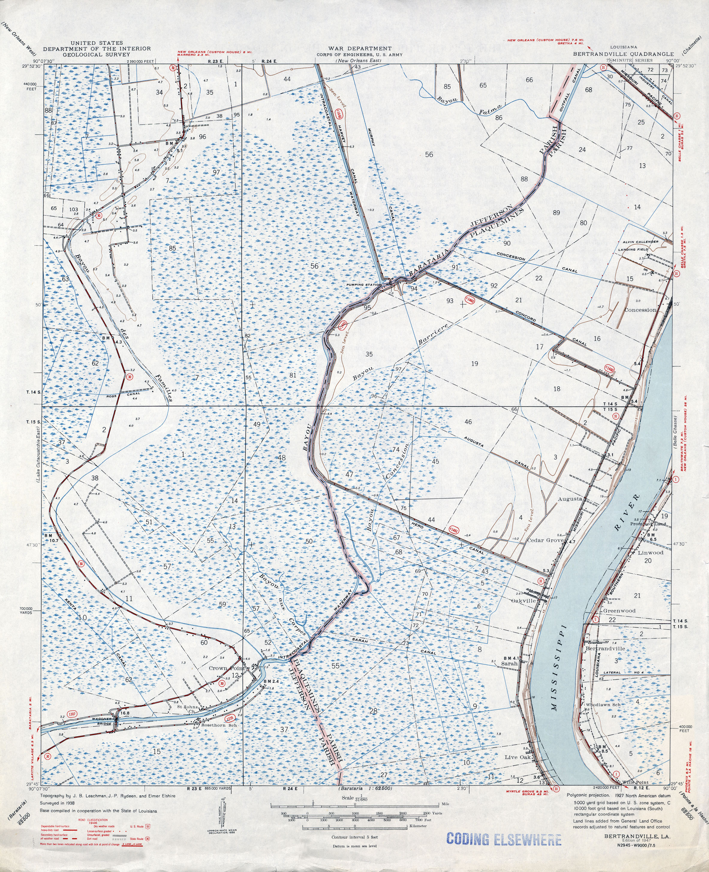 Louisiana Topographic Maps Perry Castaneda Map Collection Ut