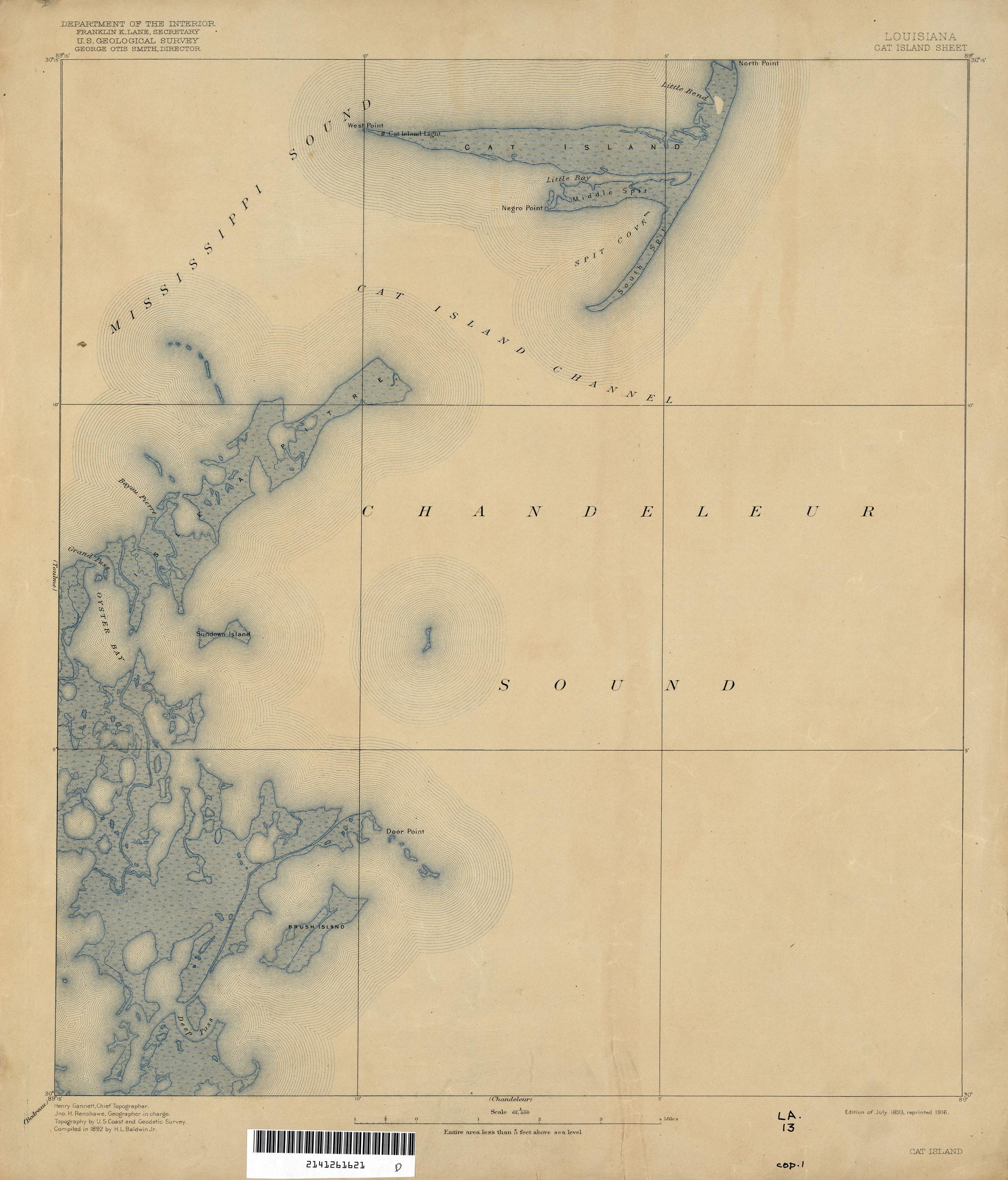 Louisiana Topographic Maps PerryCastaeda Map Collection UT