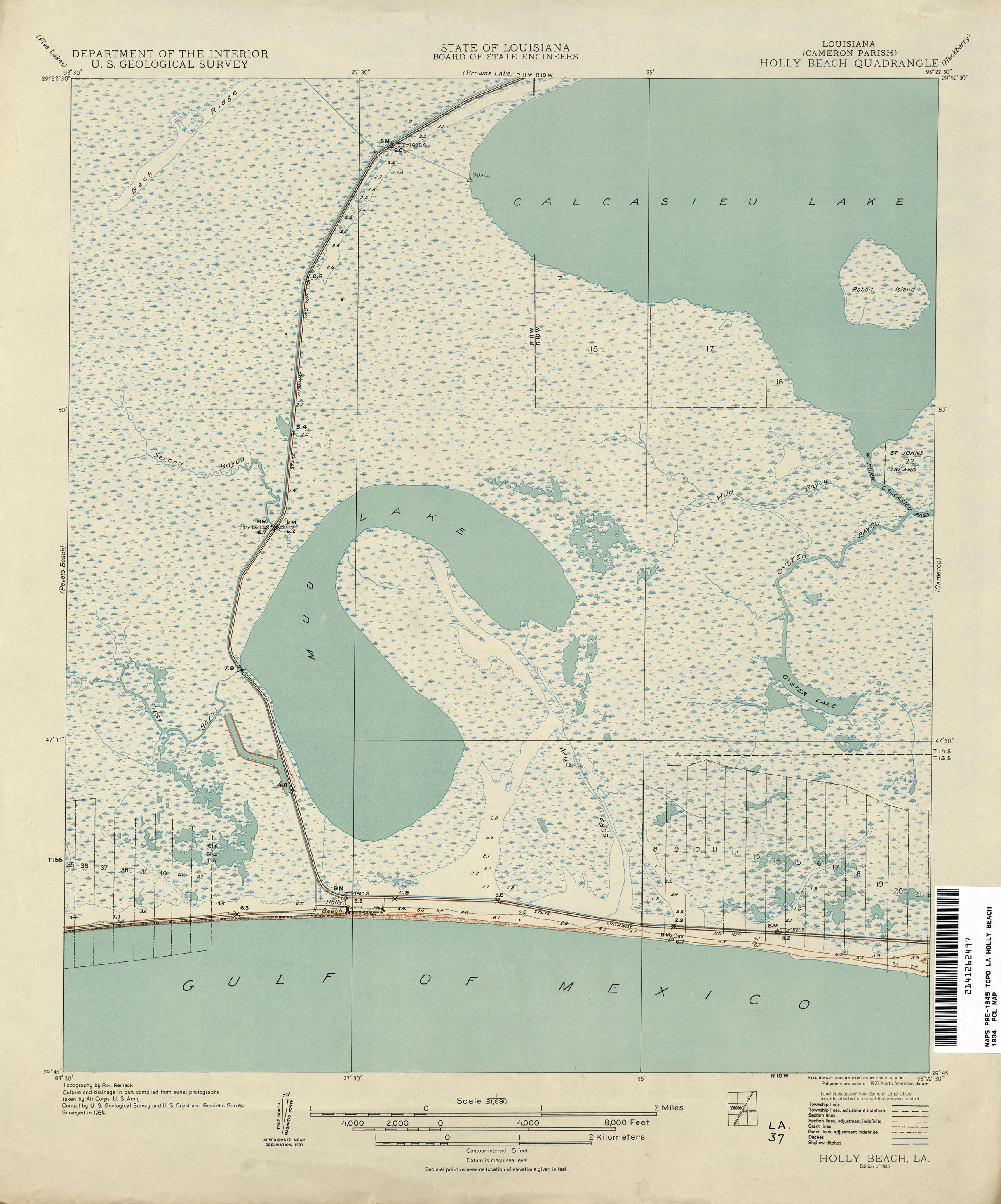 Louisiana Topographic Maps  PerryCastaeda Map