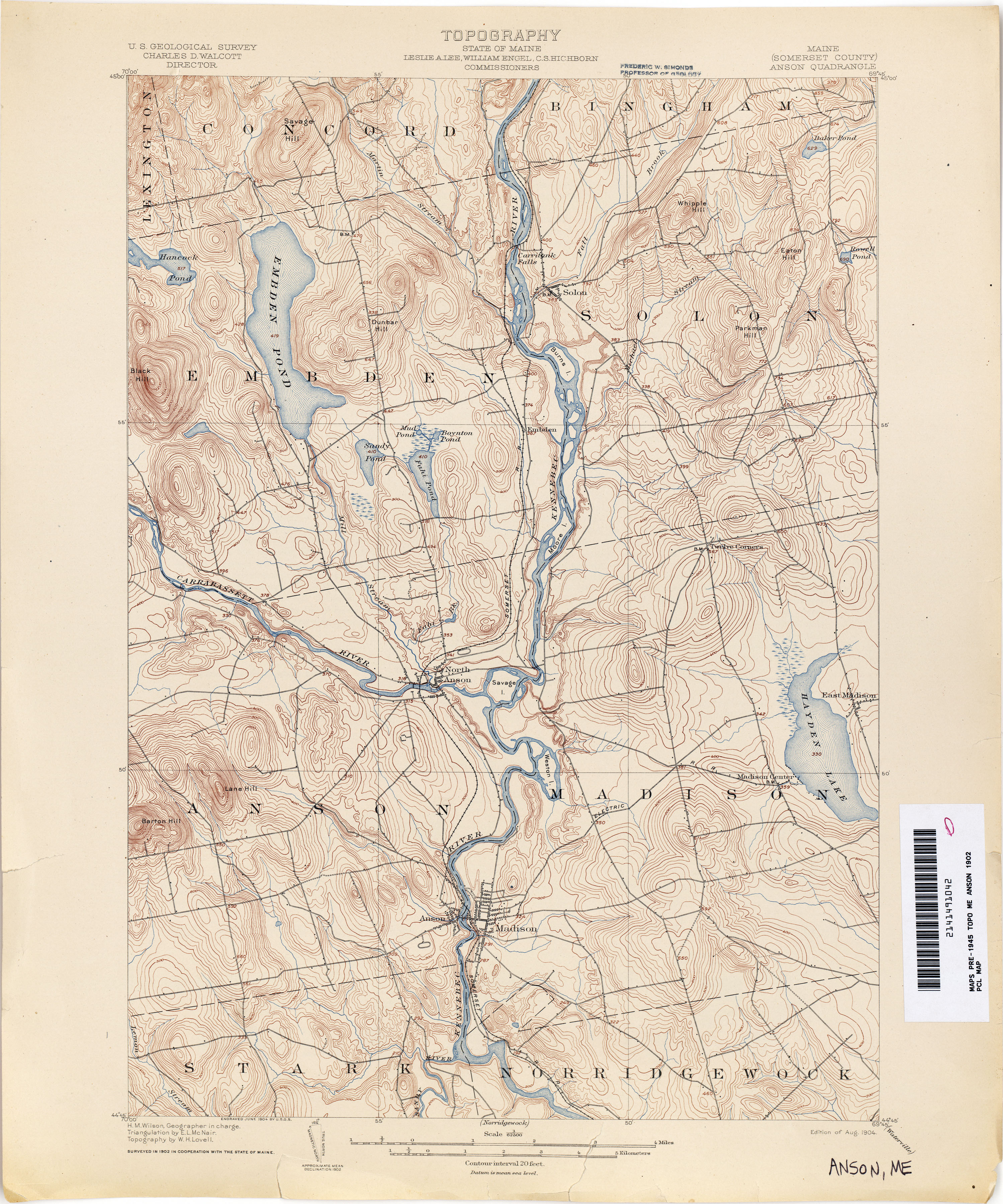 Maine Historical Topographic Maps PerryCastañeda Map Collection - Google topographic maps online