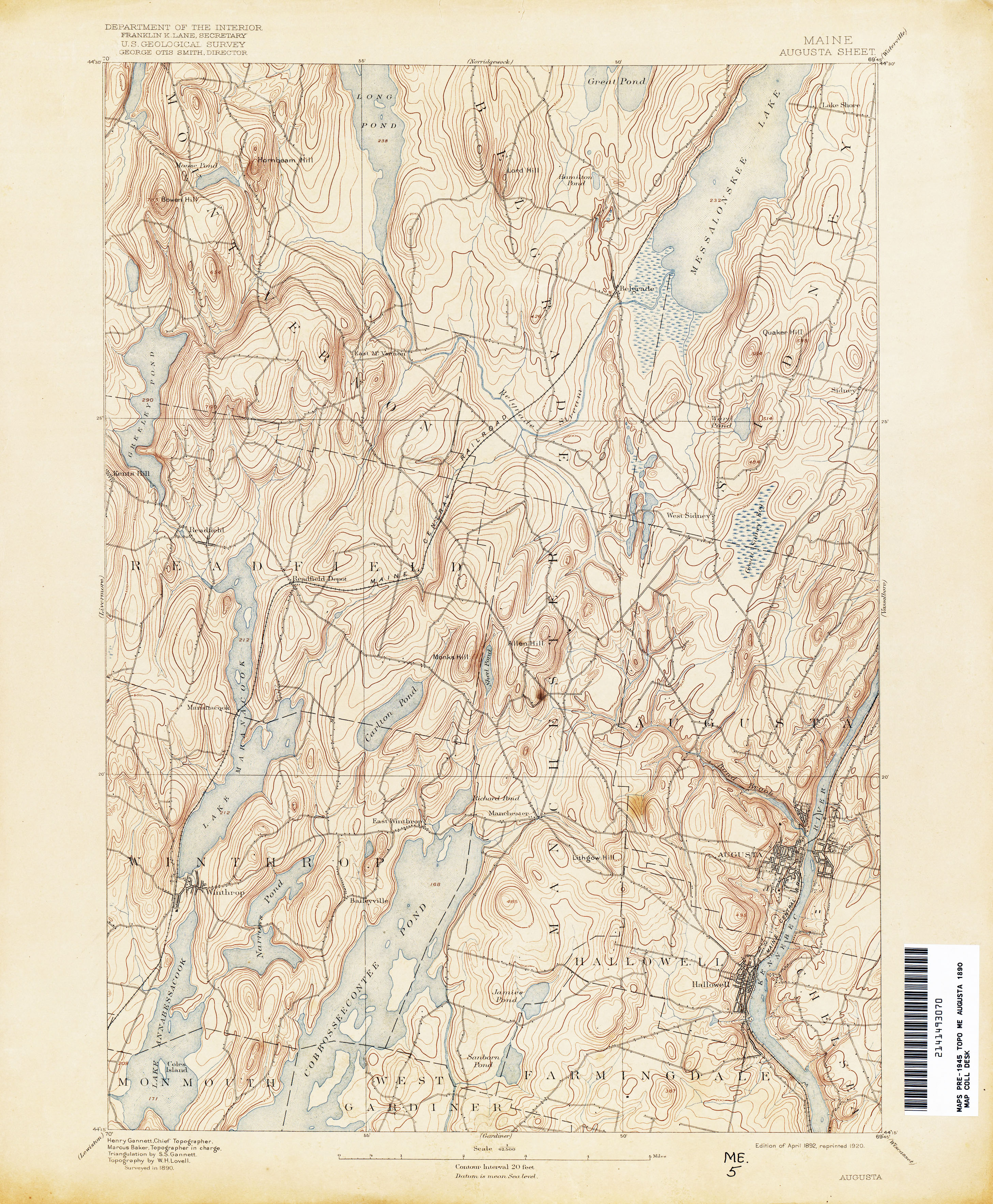 Maine Historical Topographic Maps - Perry-Castañeda Map Collection on