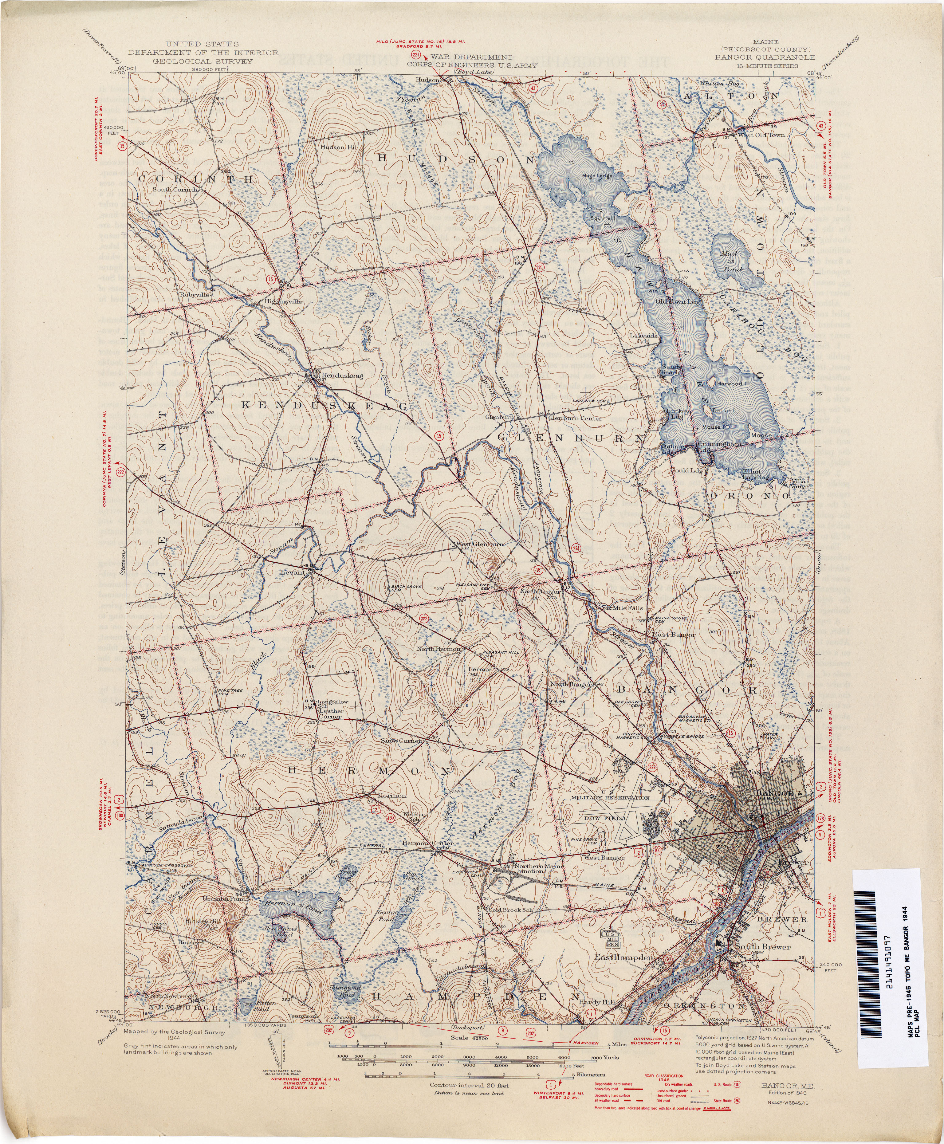 Maine Historical Topographic Maps PerryCastañeda Map Collection - Maine map