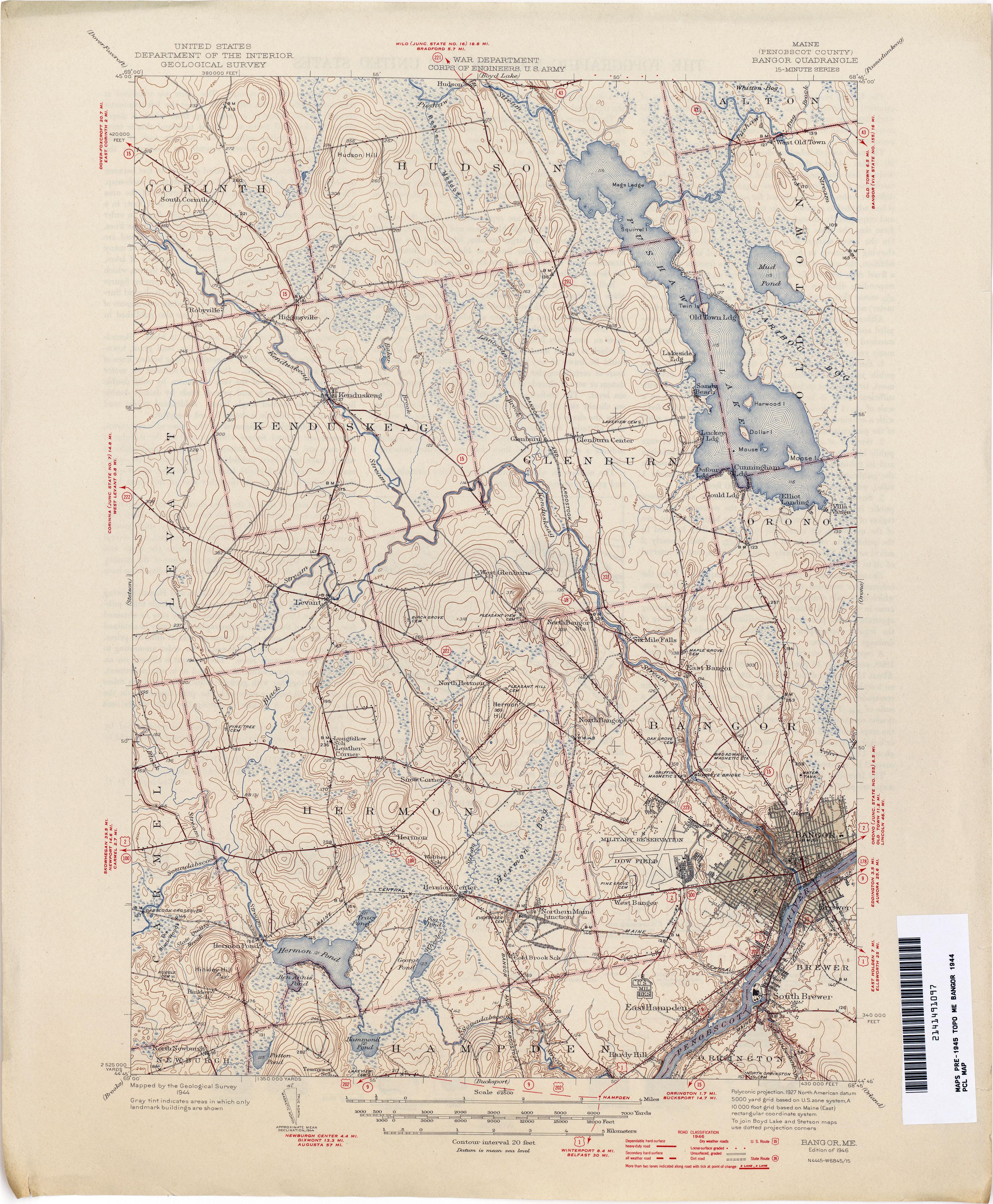 Maine Historical Topographic Maps  PerryCastaeda Map