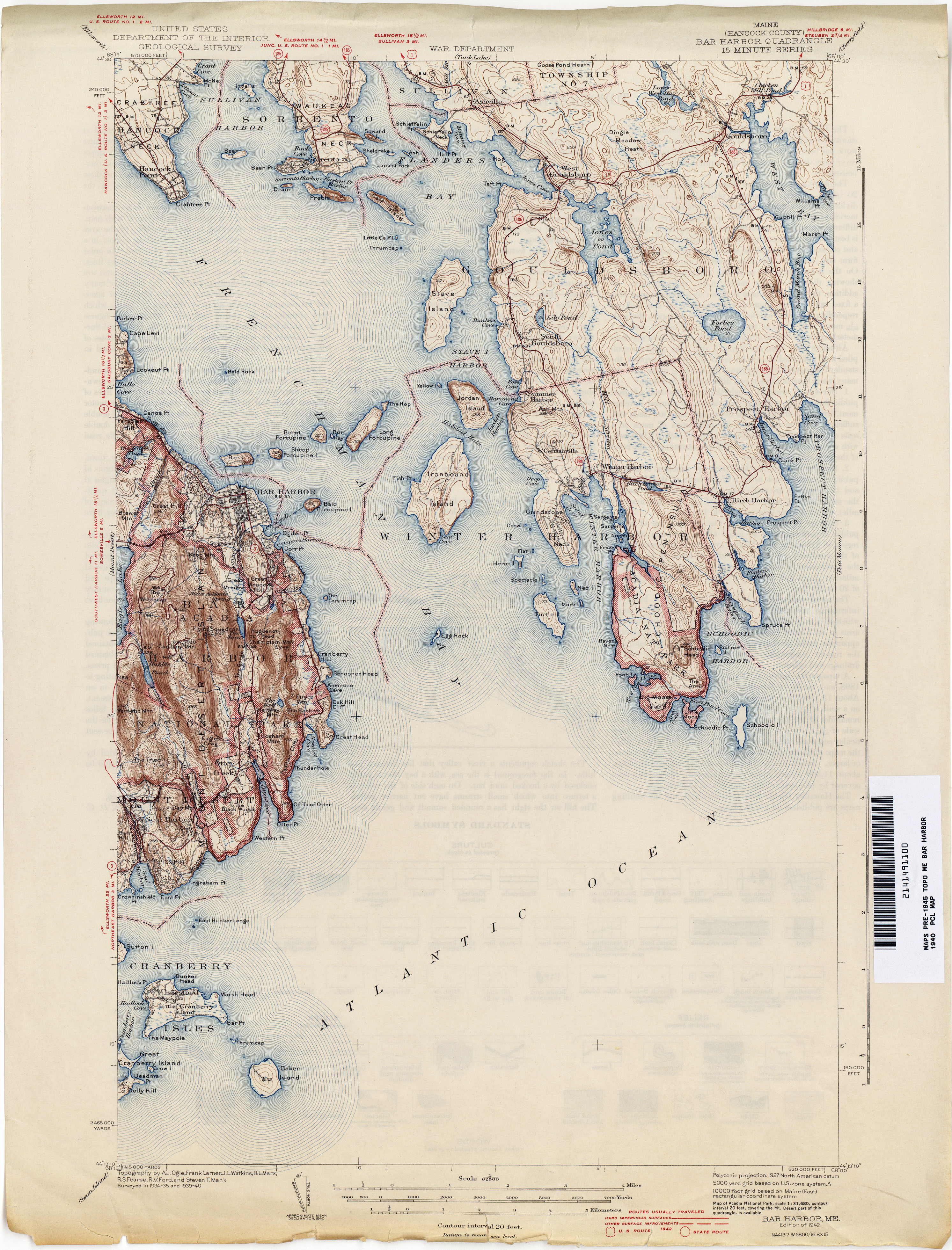 Maine Historical Topographic Maps - Perry-Castañeda Map Collection ...