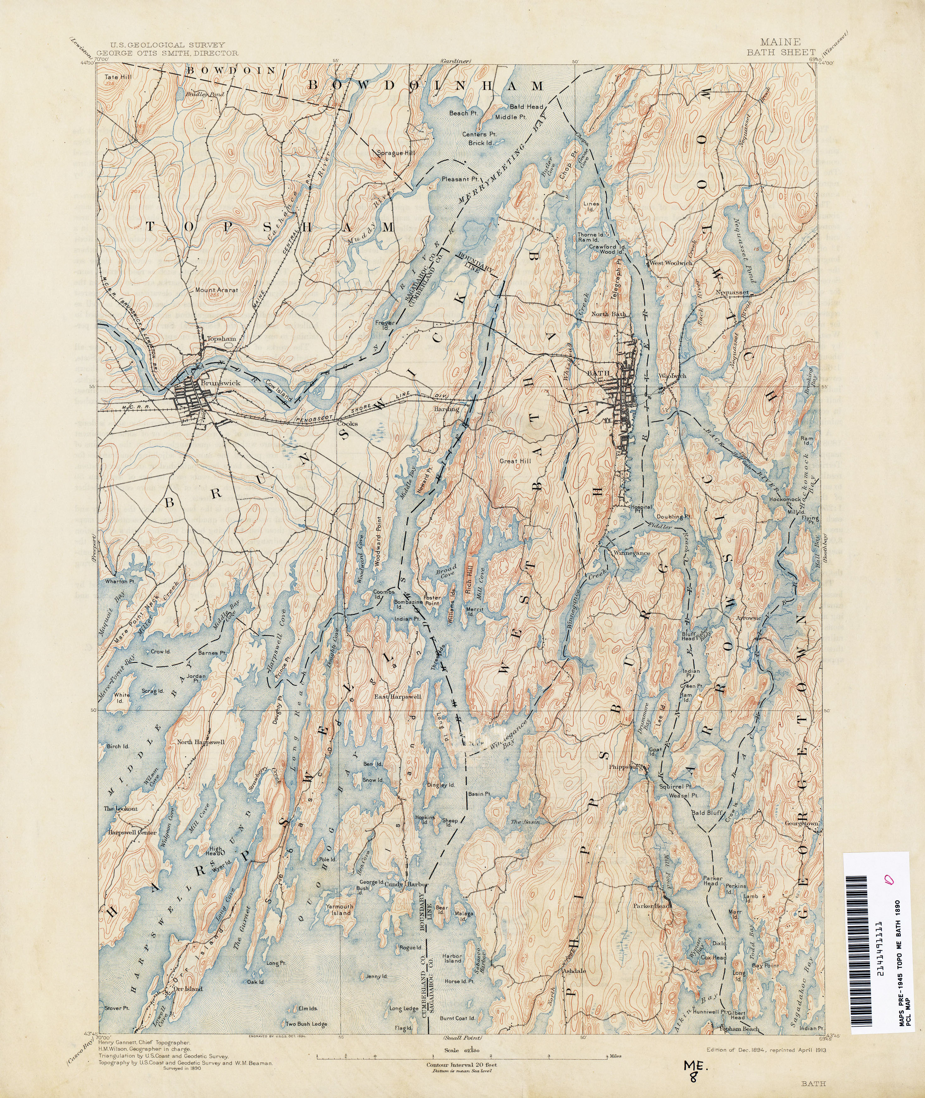 Maine Historical Topographic Maps PerryCastañeda Map Collection - Maps of maine