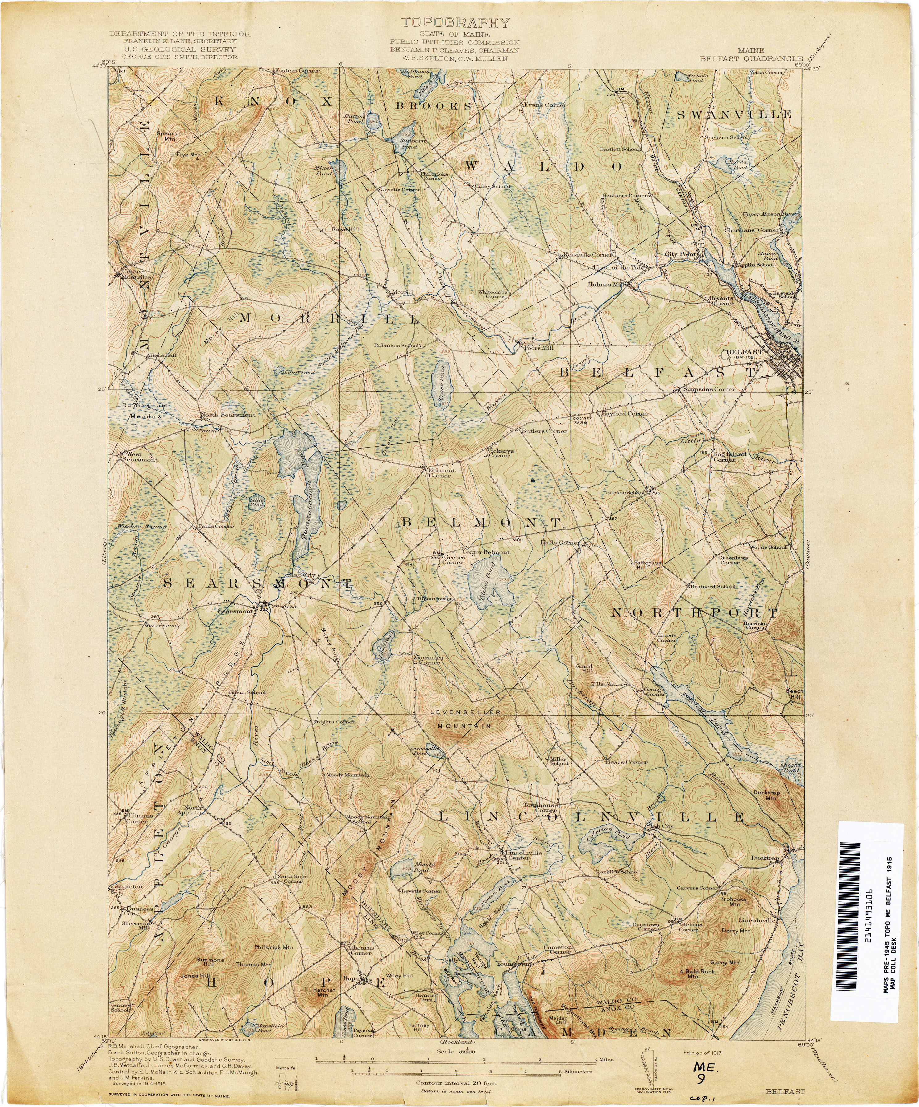 Maine Historical Topographic Maps   Perry Castañeda Map Collection