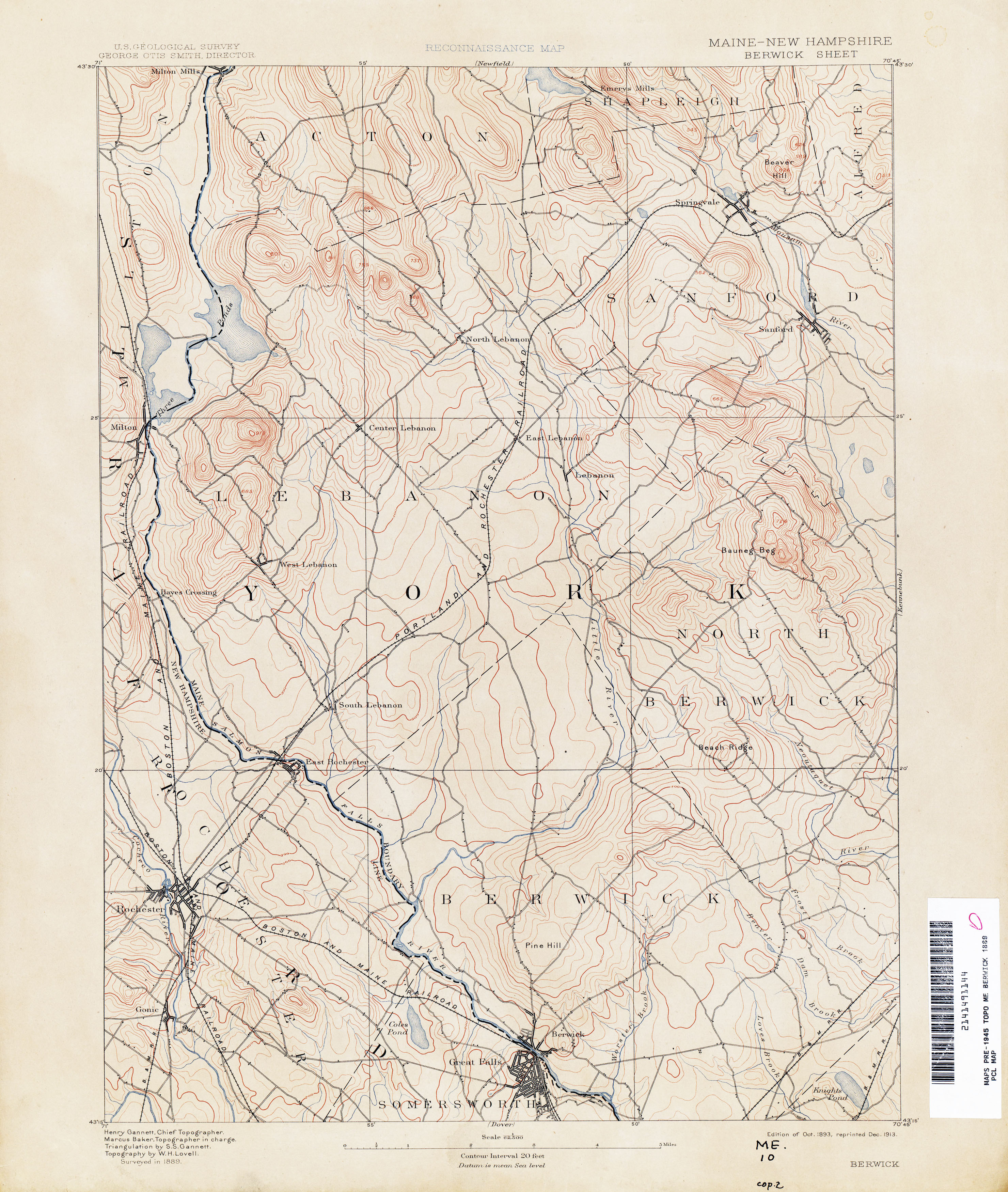 New Hampshire Topographic Maps PerryCastaeda Map Collection UT