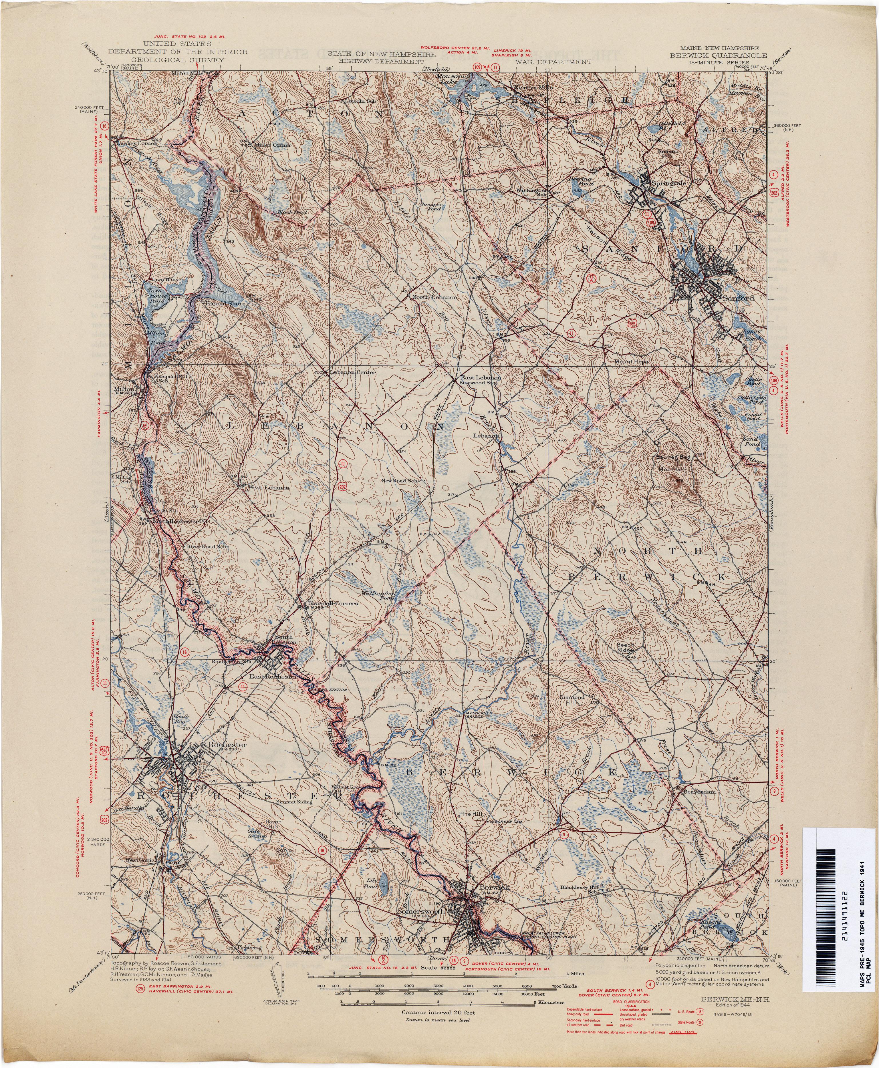 new hampshire topographic maps