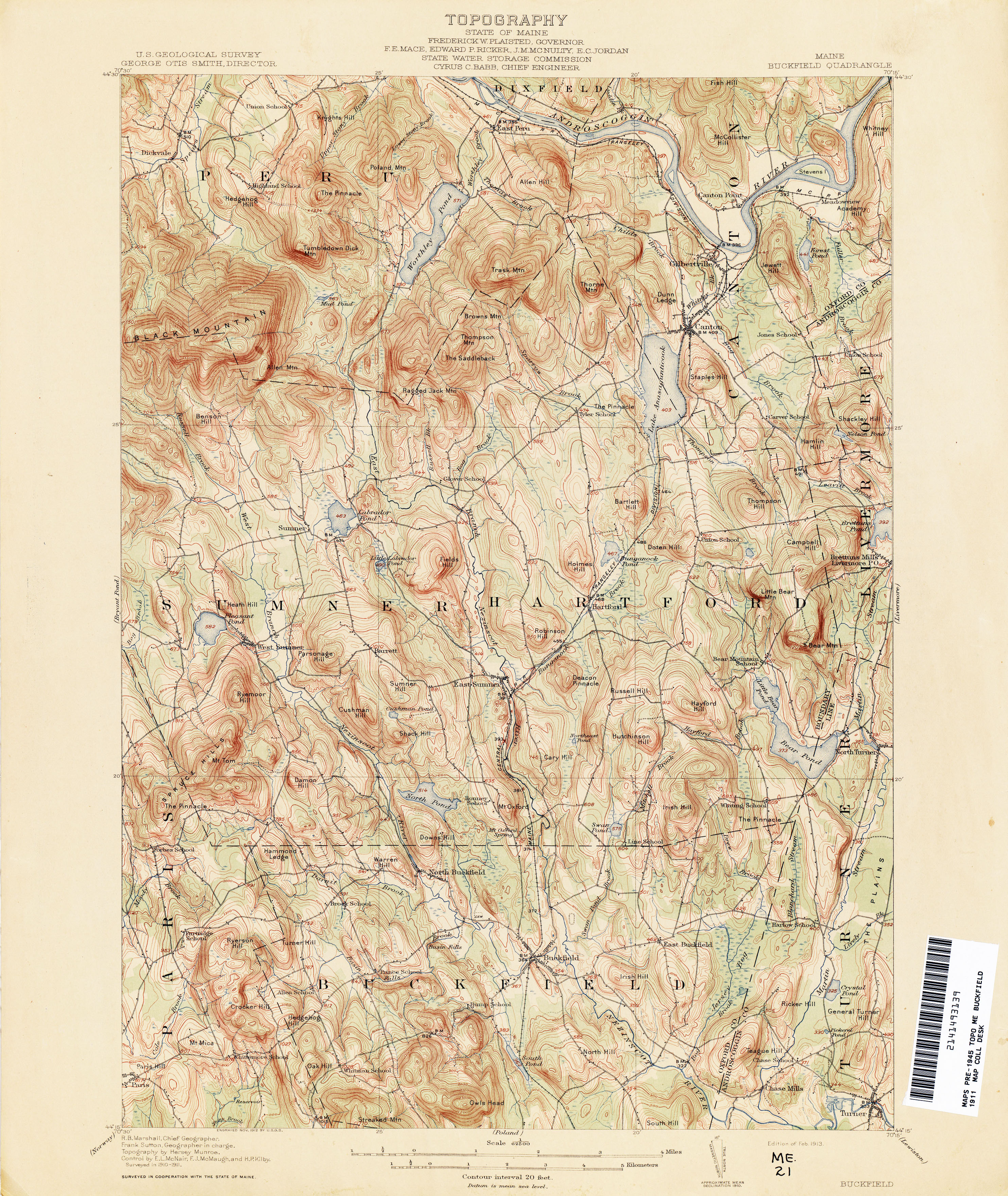 Maine Historical Topographic Maps Perry Castaneda Map Collection