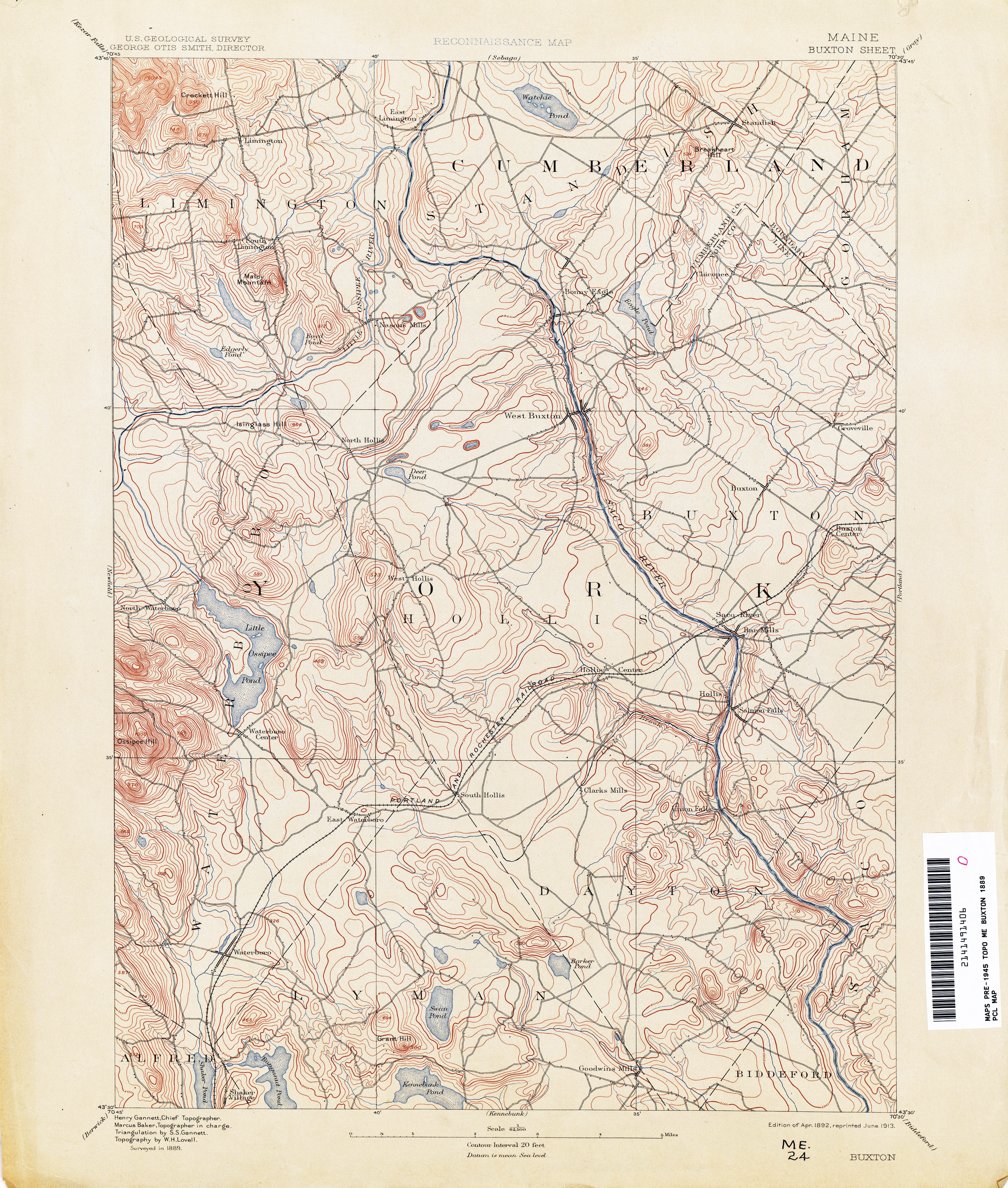 Lovell Maine Map.Maine Historical Topographic Maps Perry Castaneda Map Collection