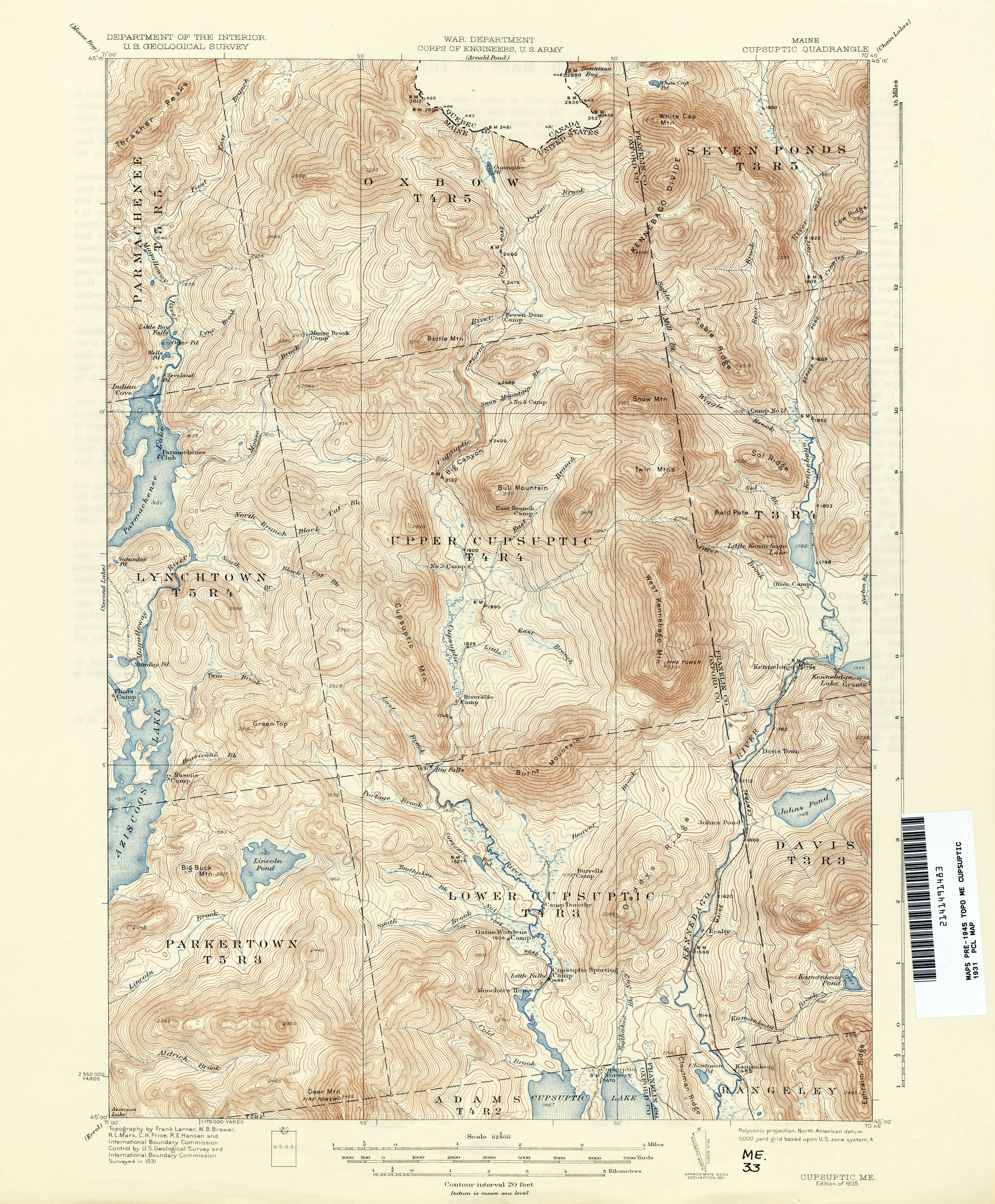 Old Maine Map.Maine Historical Topographic Maps Perry Castaneda Map Collection