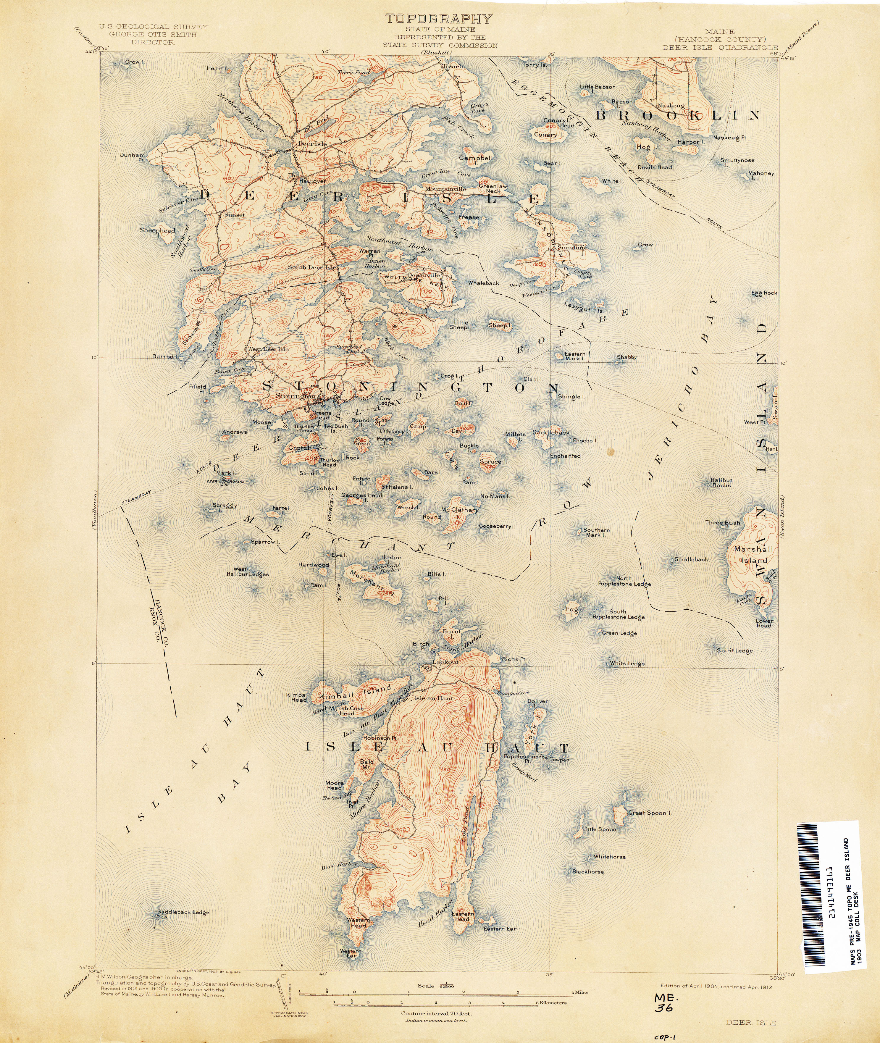 Maine Historical Topographic Maps PerryCastañeda Map Collection - Maine maps