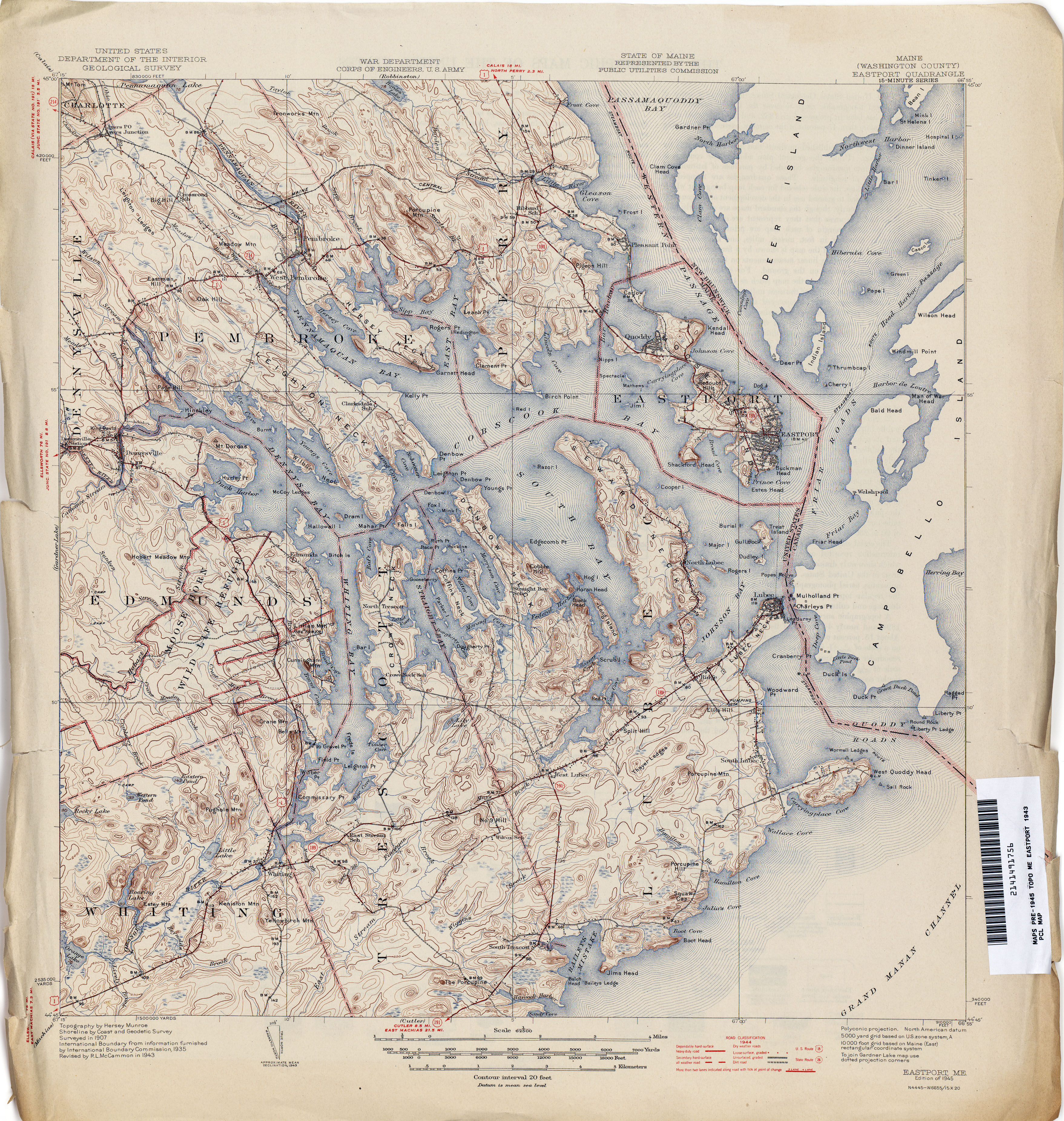 Topo Map Of Maine.Maine Historical Topographic Maps Perry Castaneda Map Collection