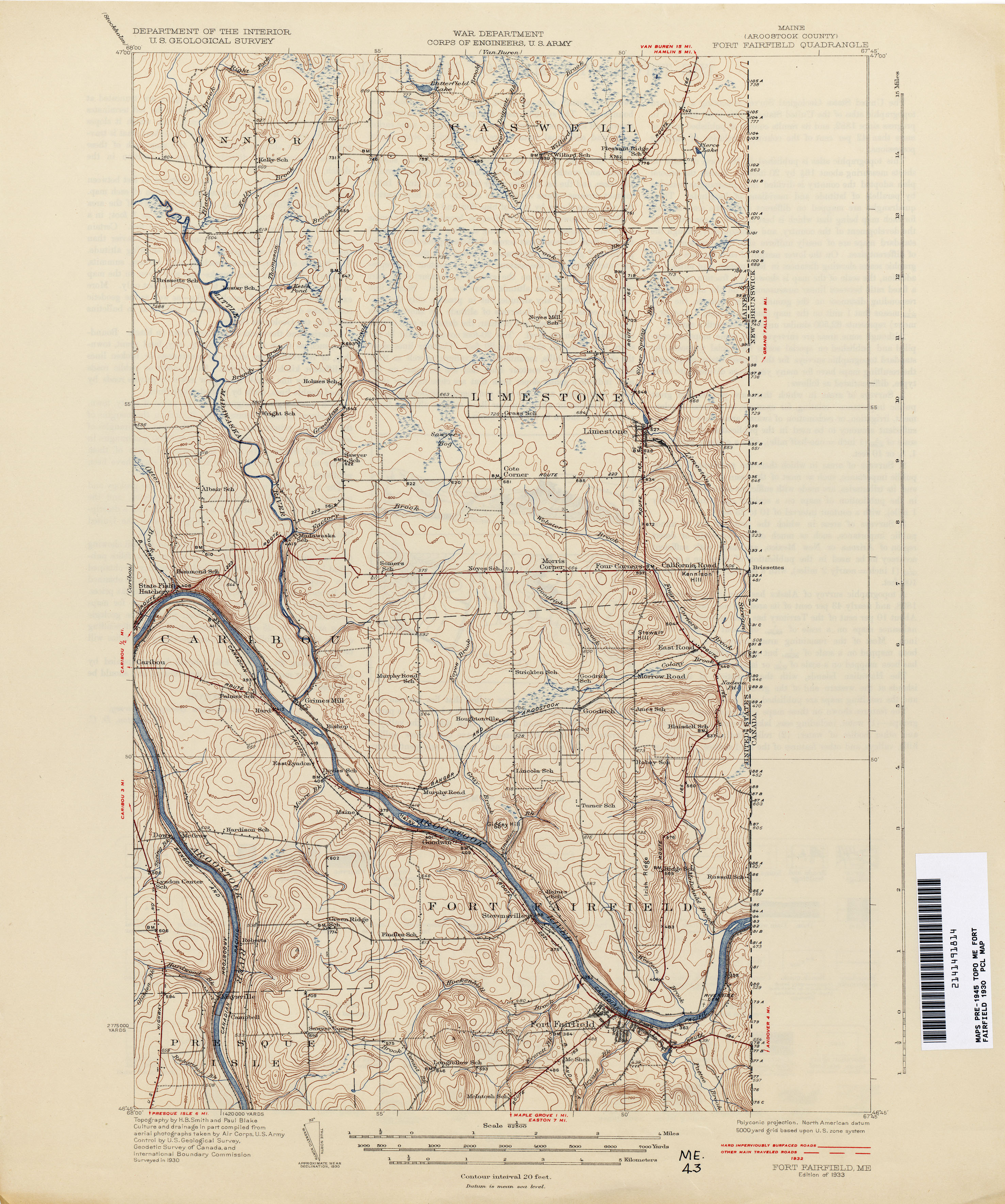 Maine Historical Topographic Maps PerryCastañeda Map Collection - Road map maine
