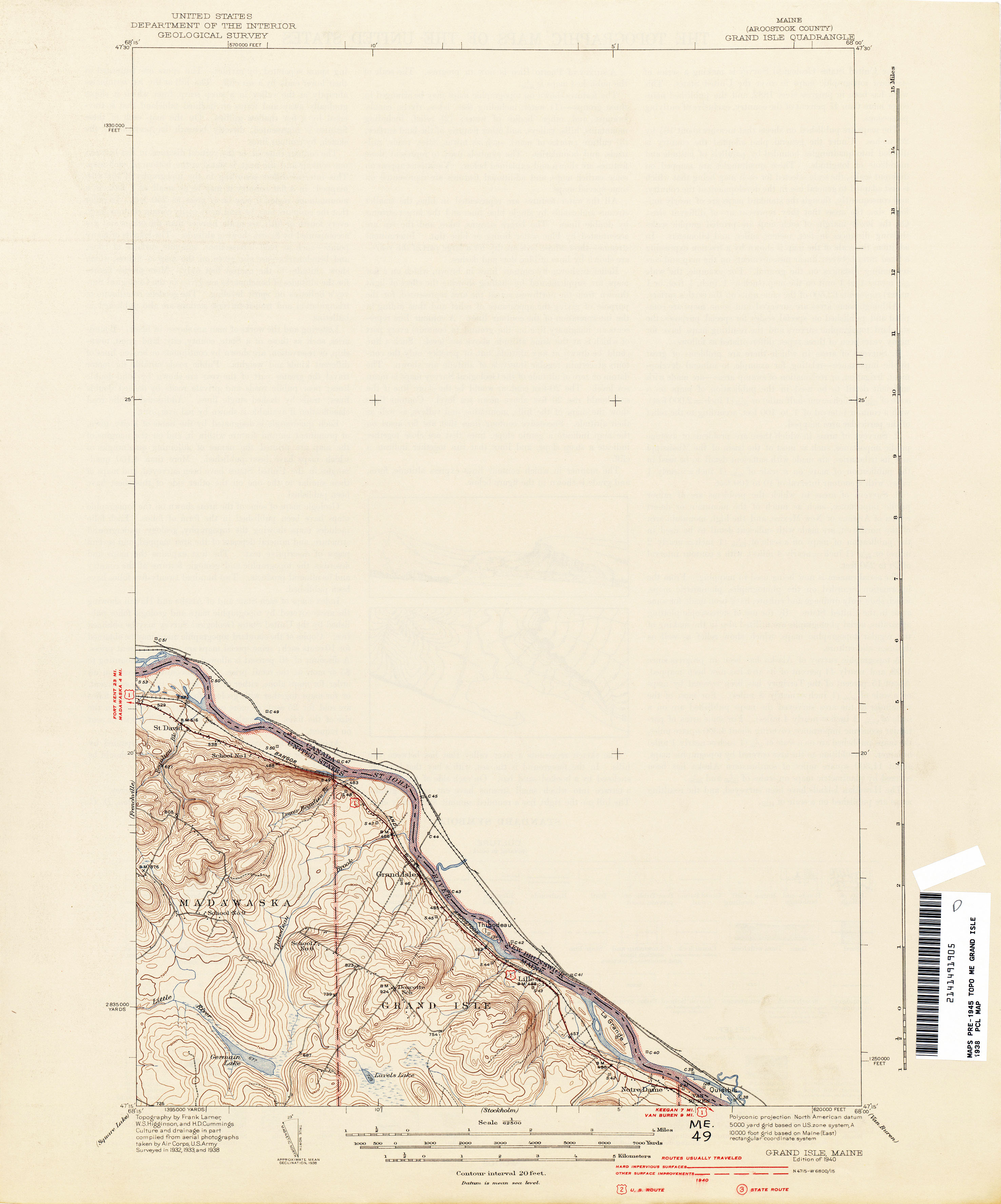 Maine Historical Topographic Maps PerryCastaeda Map Collection