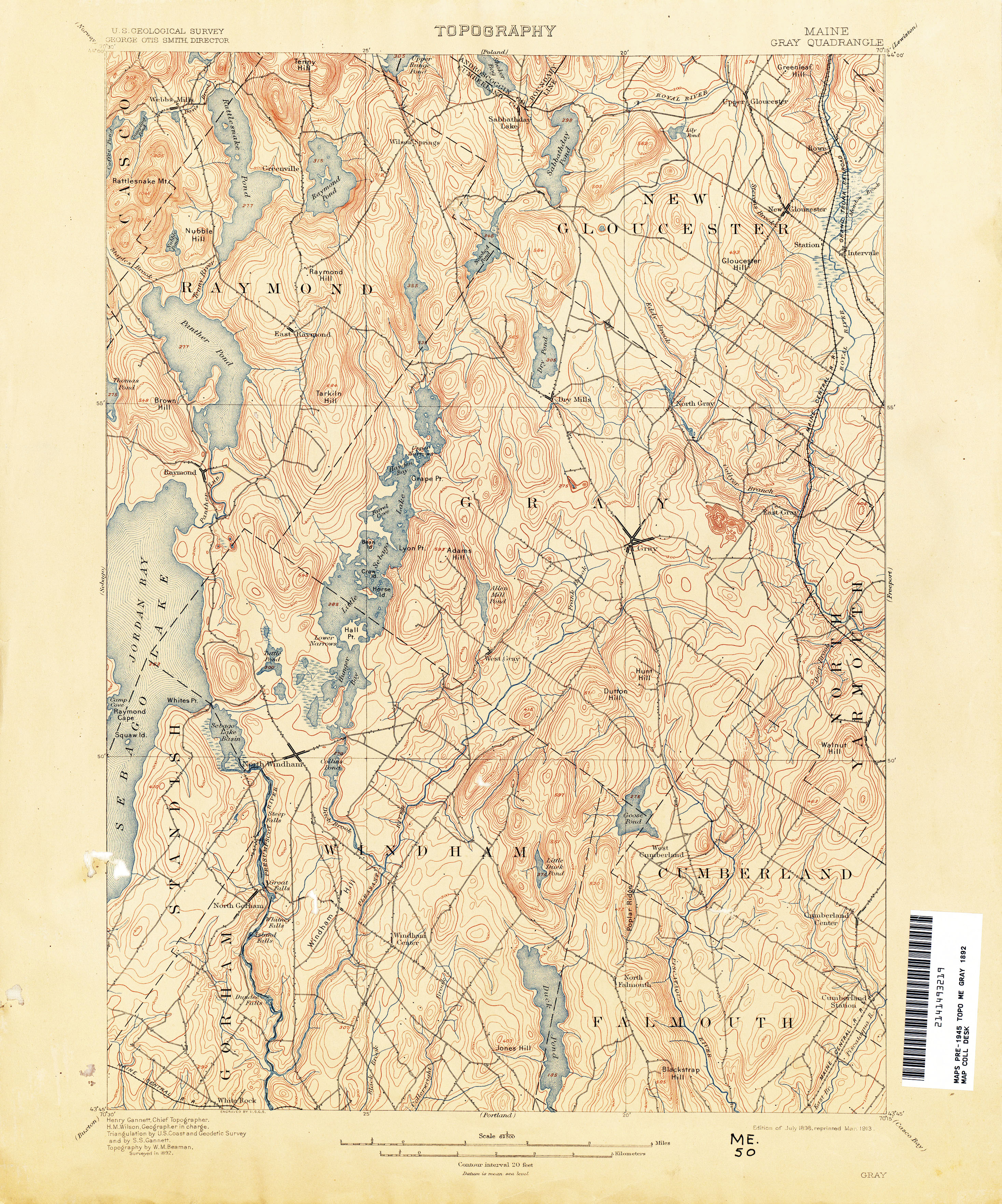 gray maine maps Maine Historical Topographic Maps Perry Castaneda Map Collection gray maine maps