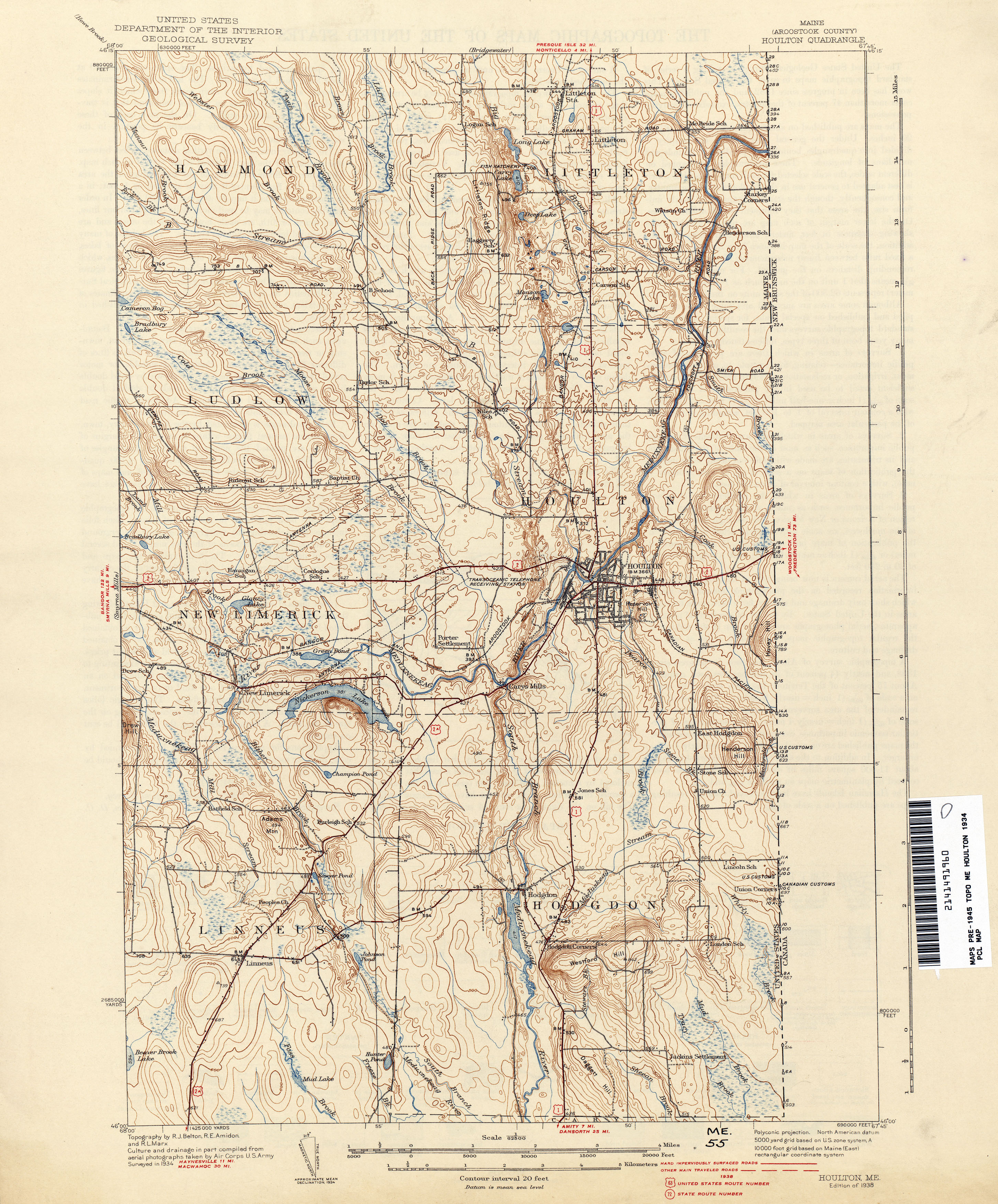 Maine historical topographic maps perry castaeda map collection maine historical topographic maps freerunsca Image collections