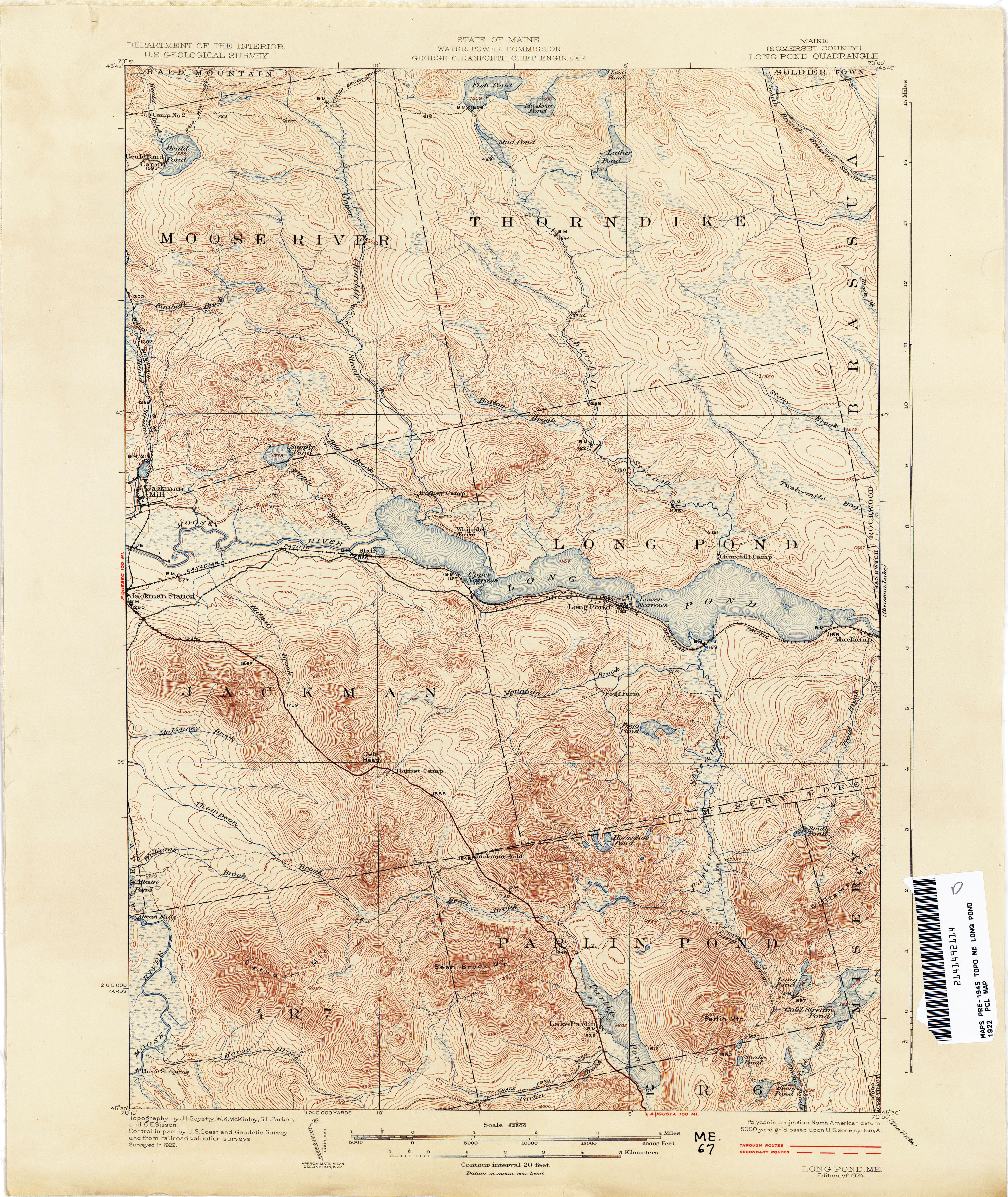 Maine Historical Topographic Maps  PerryCastaeda Map