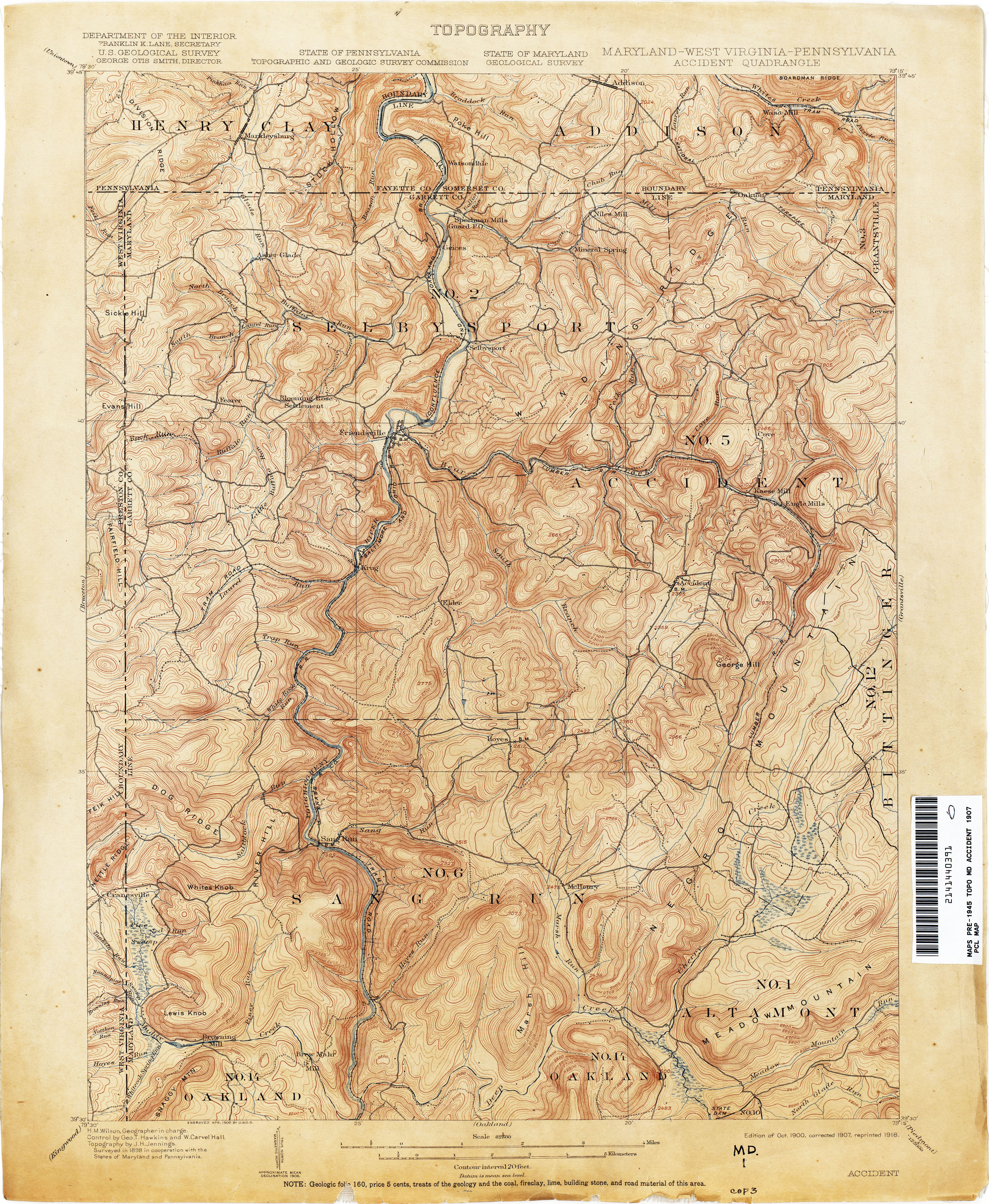 Maryland Historical Topographic Maps - Perry-Castañeda Map