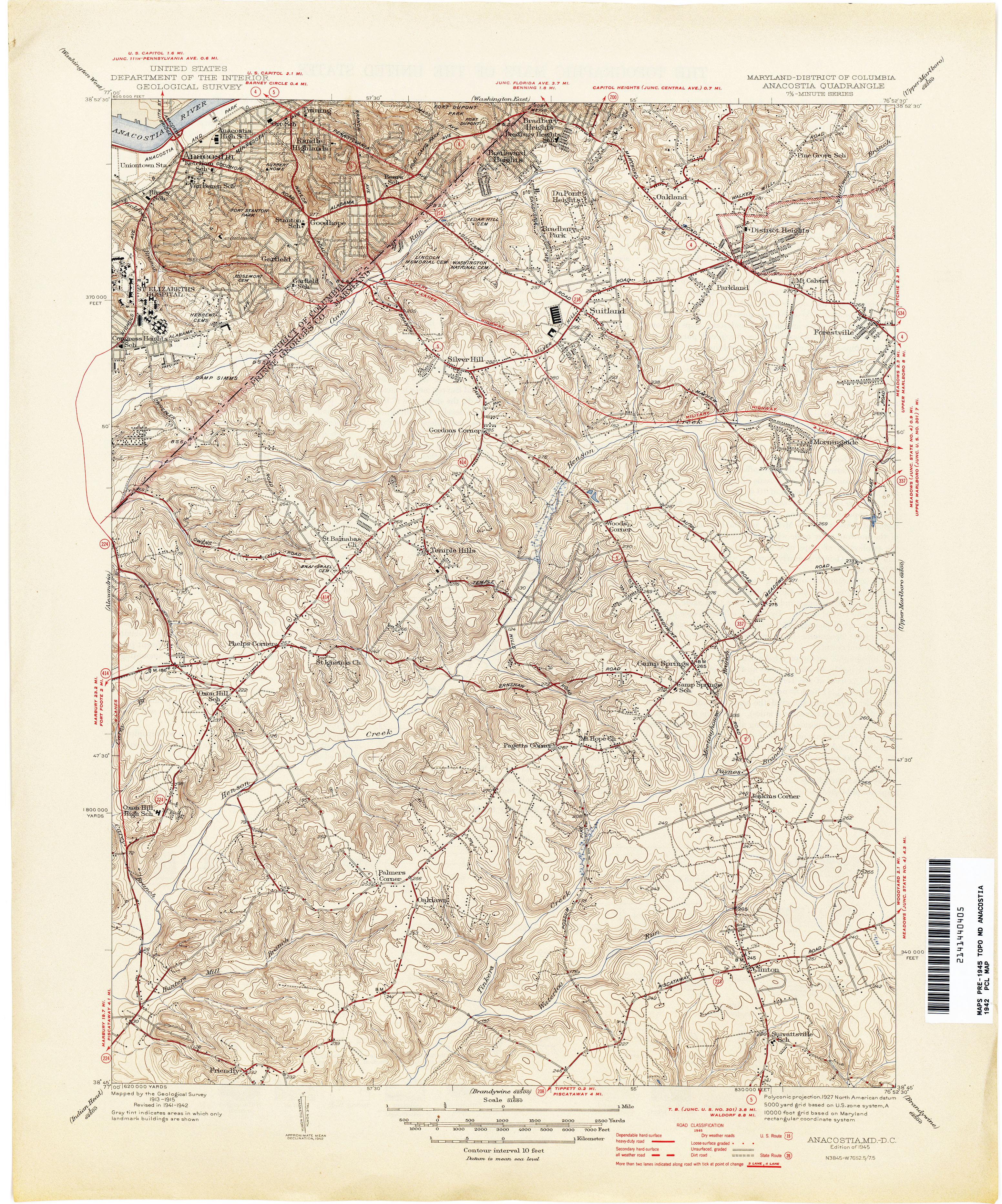 Maryland Historical Topographic Maps  PerryCastaeda Map