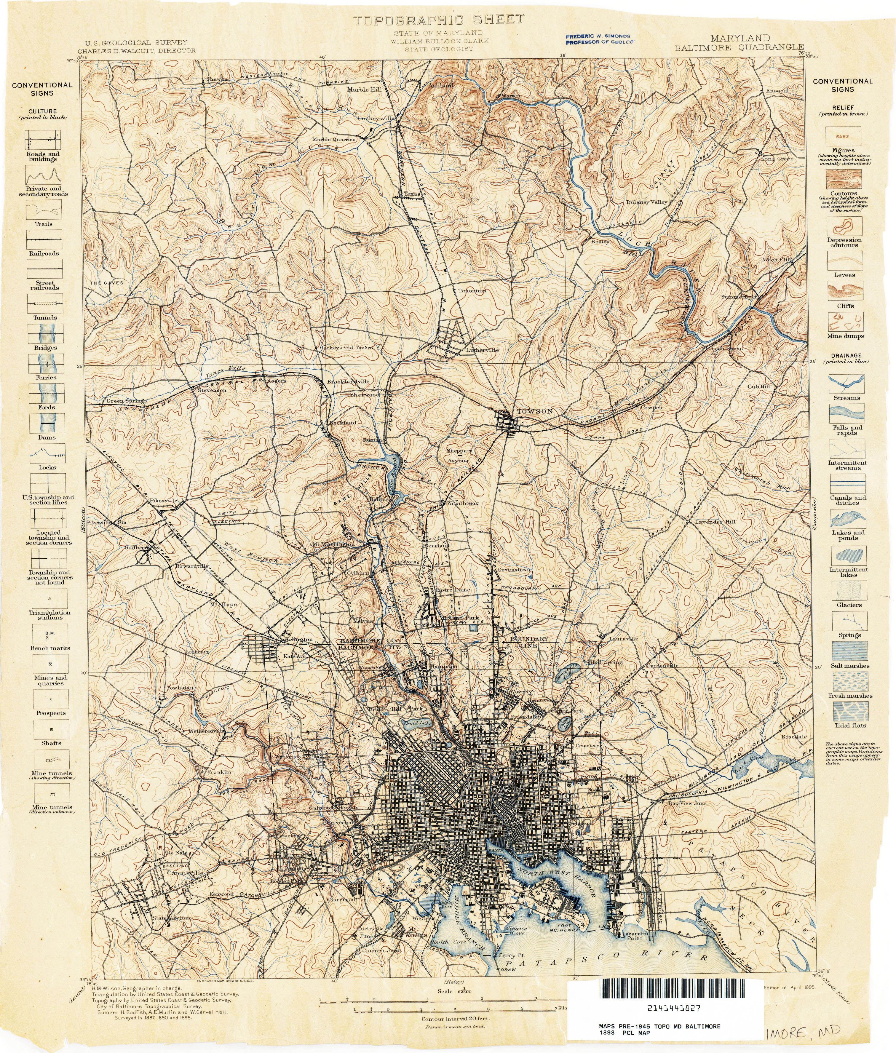 Maryland Historical Topographic Maps - Perry-Castañeda Map ...
