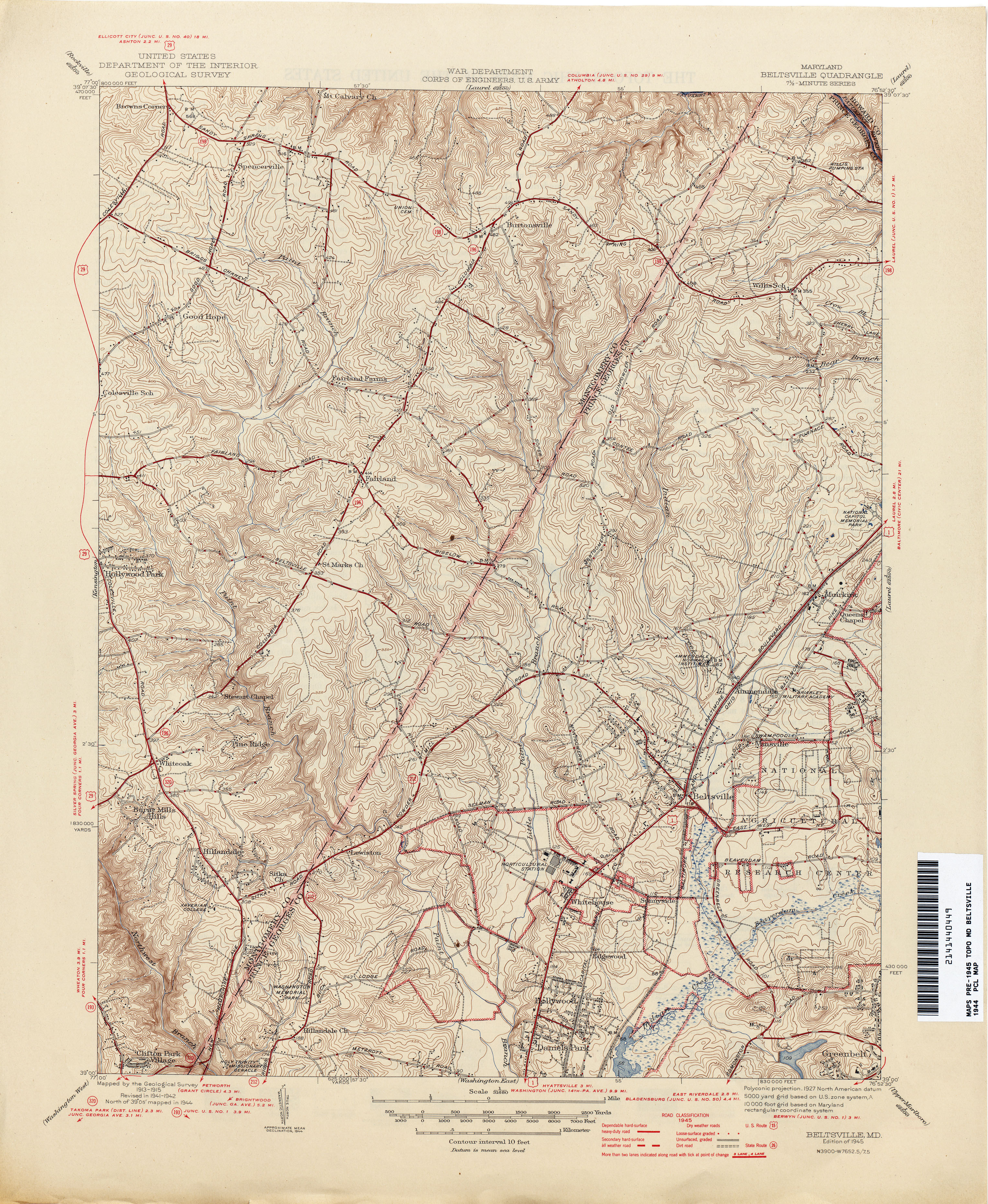 Maryland Historical Topographic Maps  PerryCastaeda Map
