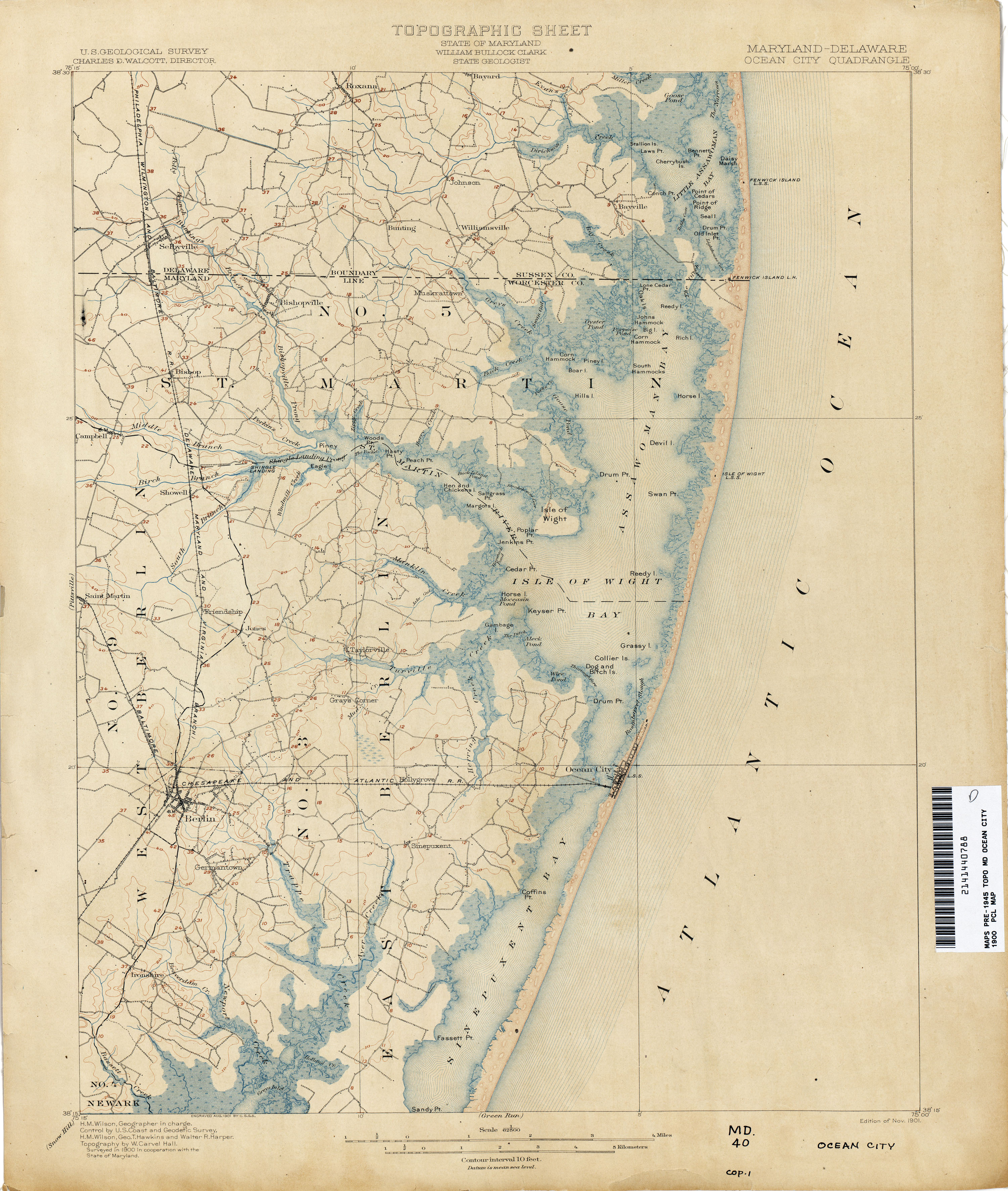 Delaware Historical Topographic Maps - Perry-Castañeda Map ...